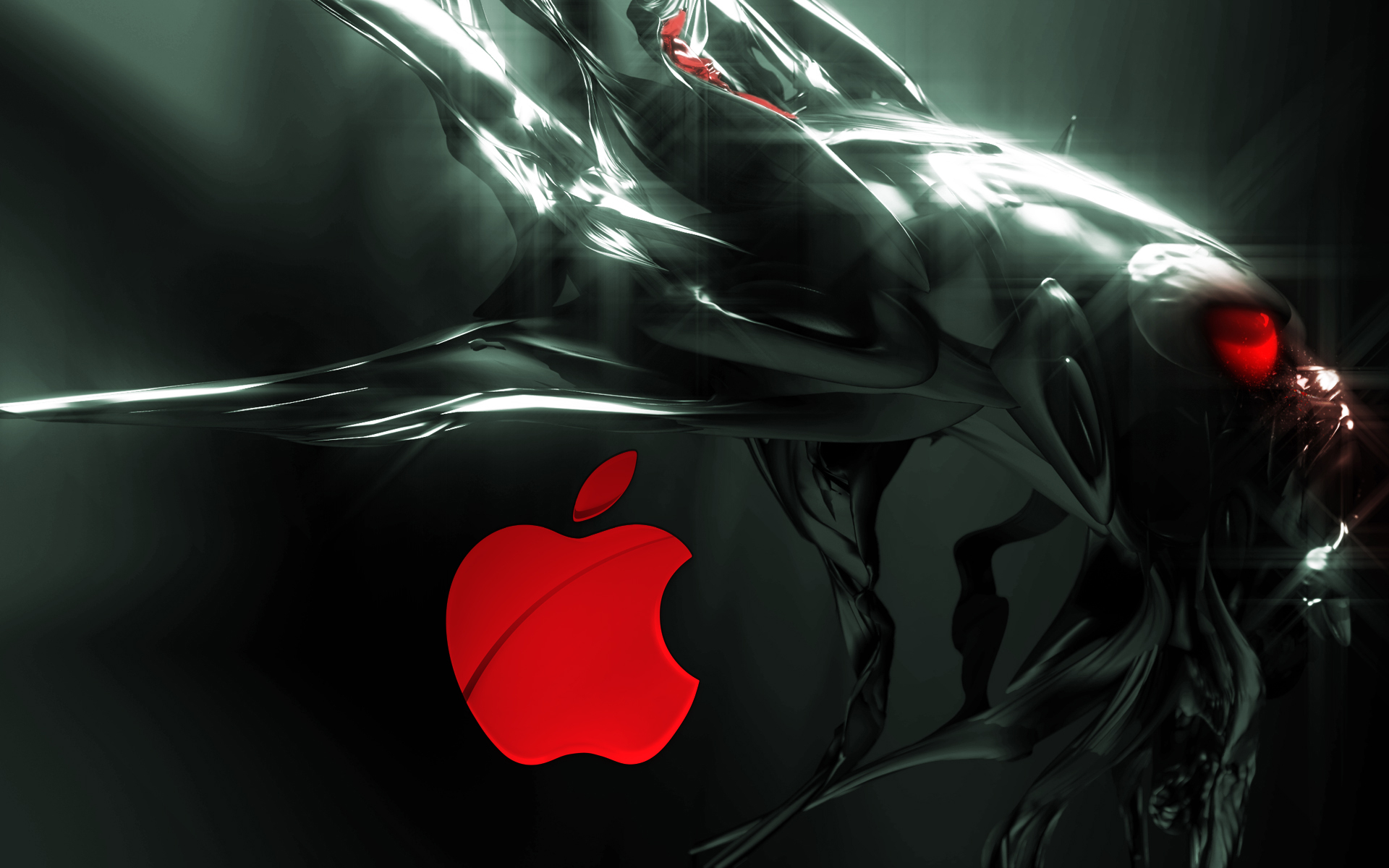Wallpaper Alien Apple Network