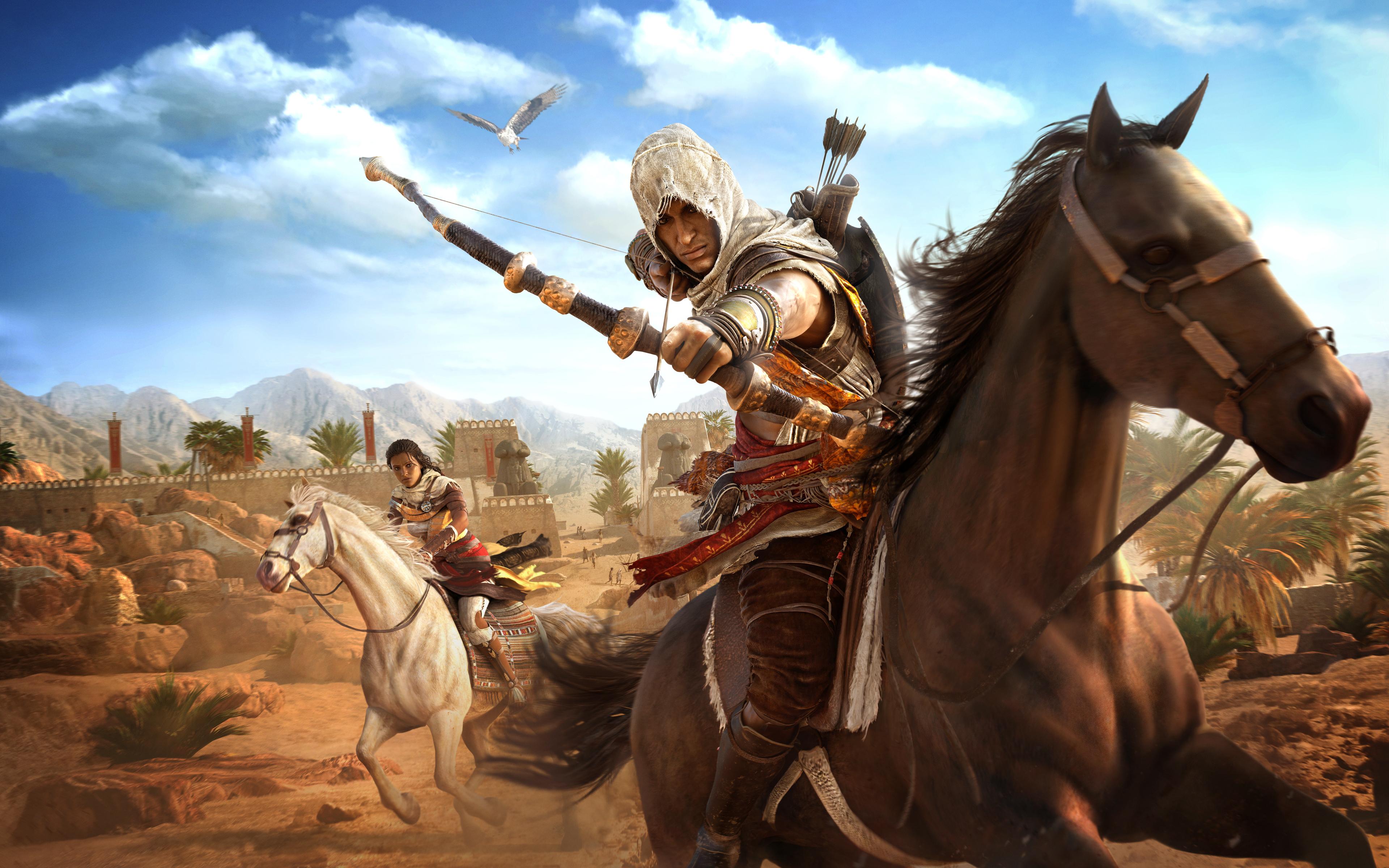wallpaper assassins creed origins 4k 8k game assassins, creed, game