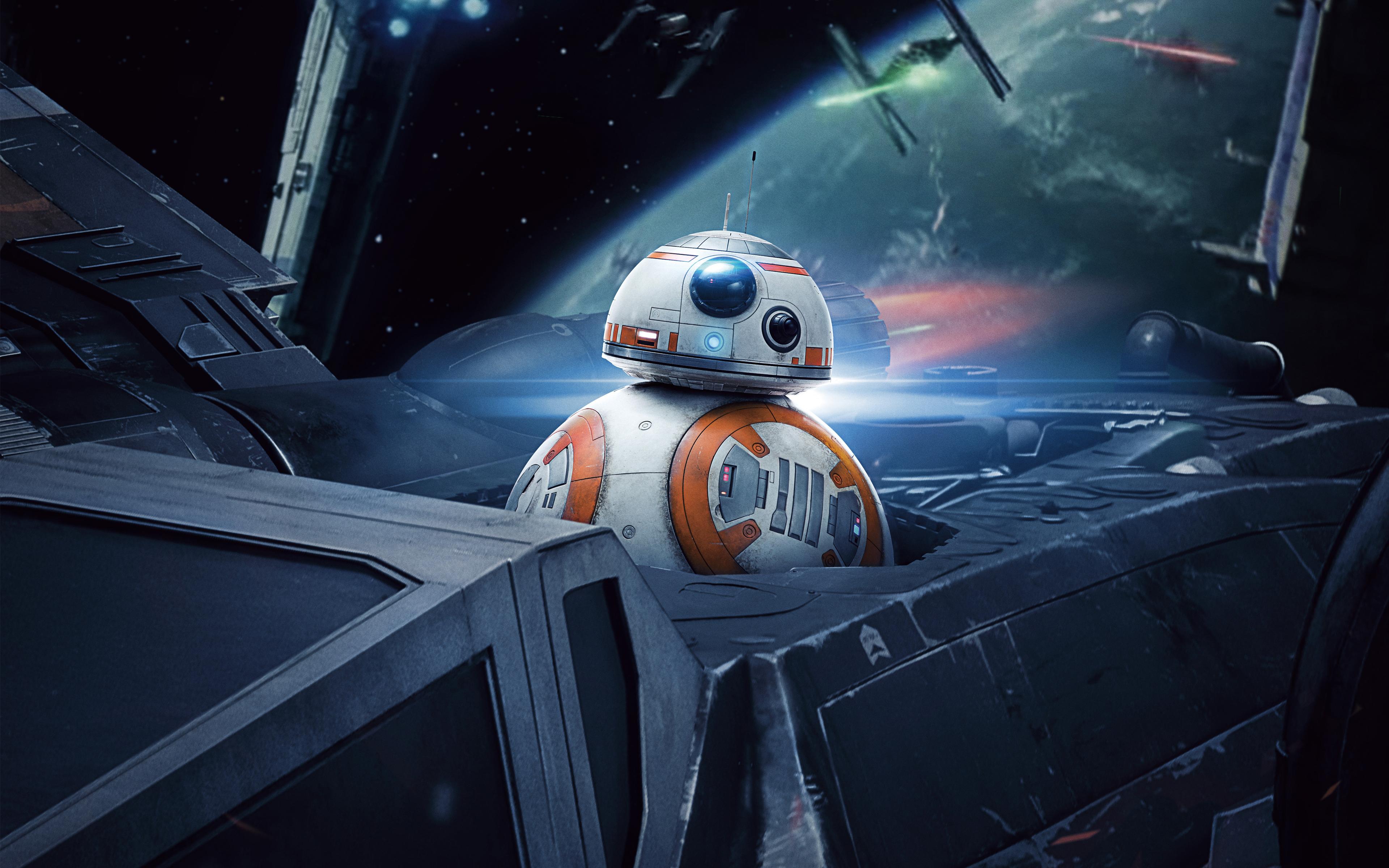 BB 8 In Star Wars The Last Jedi 4K