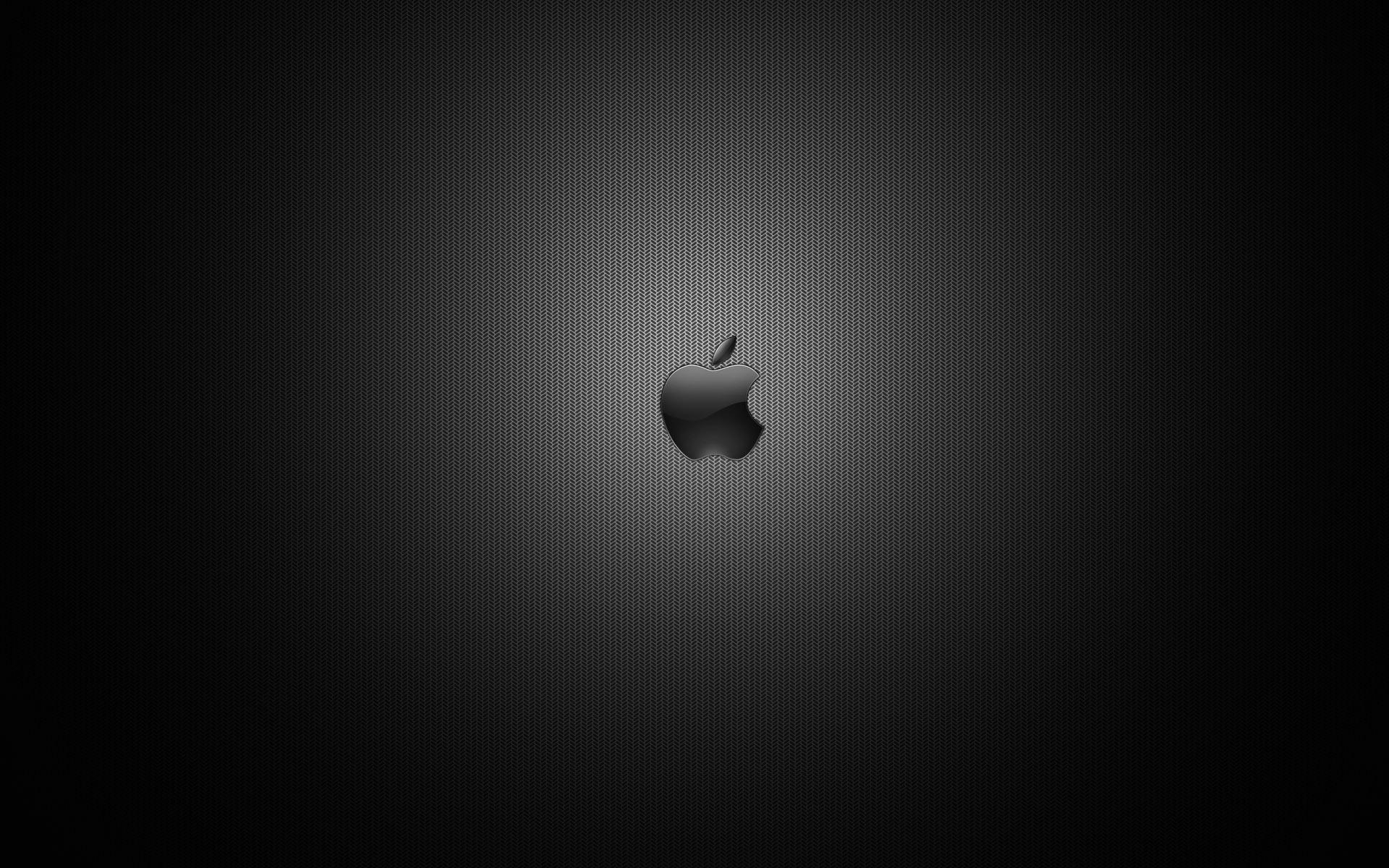 Wallpaper Dark Apple Logo