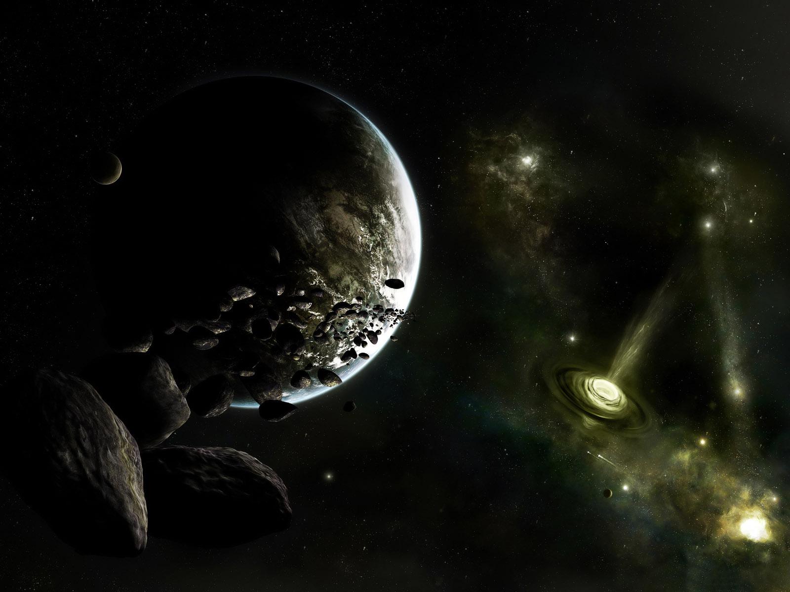 Wallpaper Dark Universe Planets