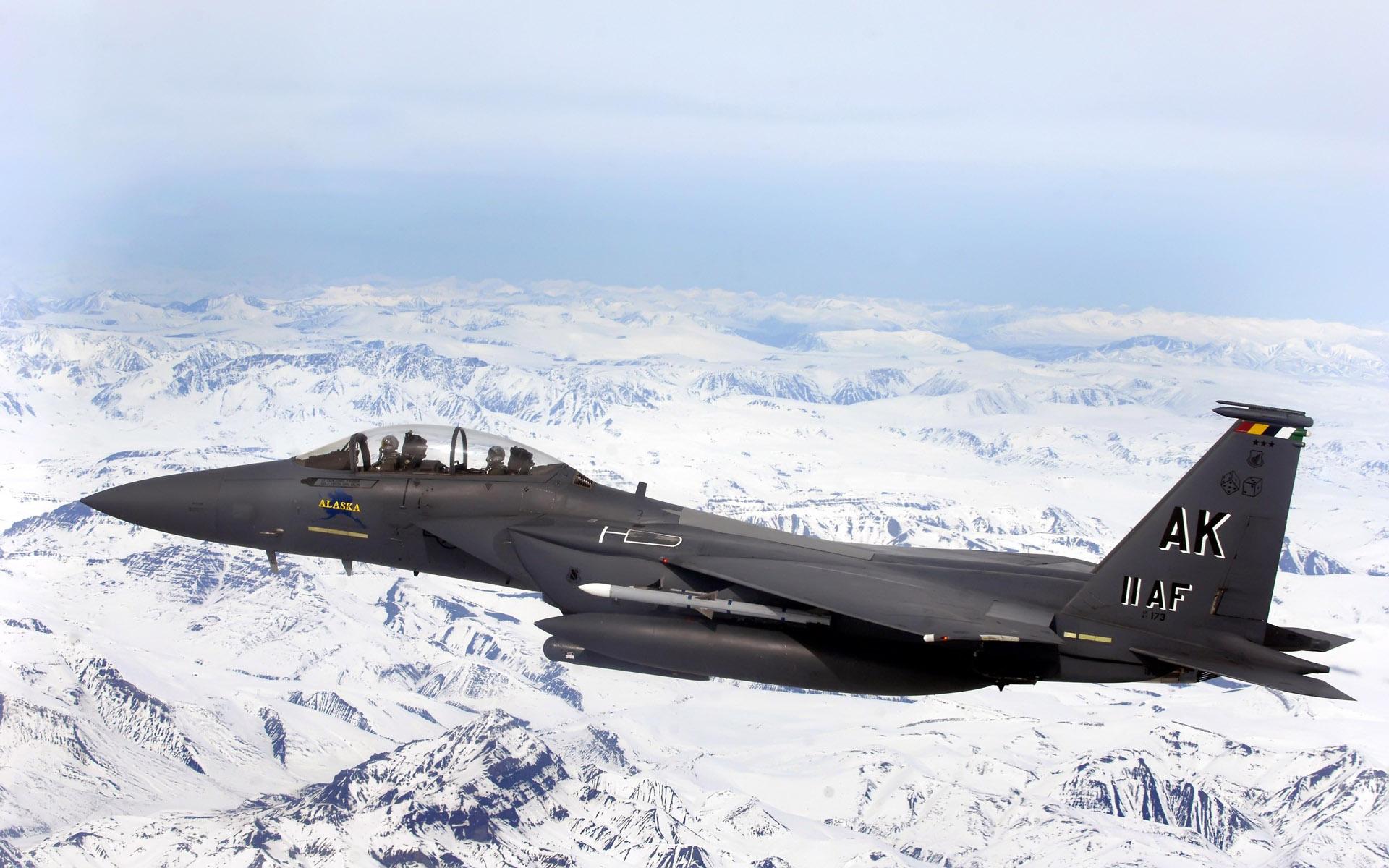 wallpaper f 15e strike eagle flys over glacial fields carrier, eagle