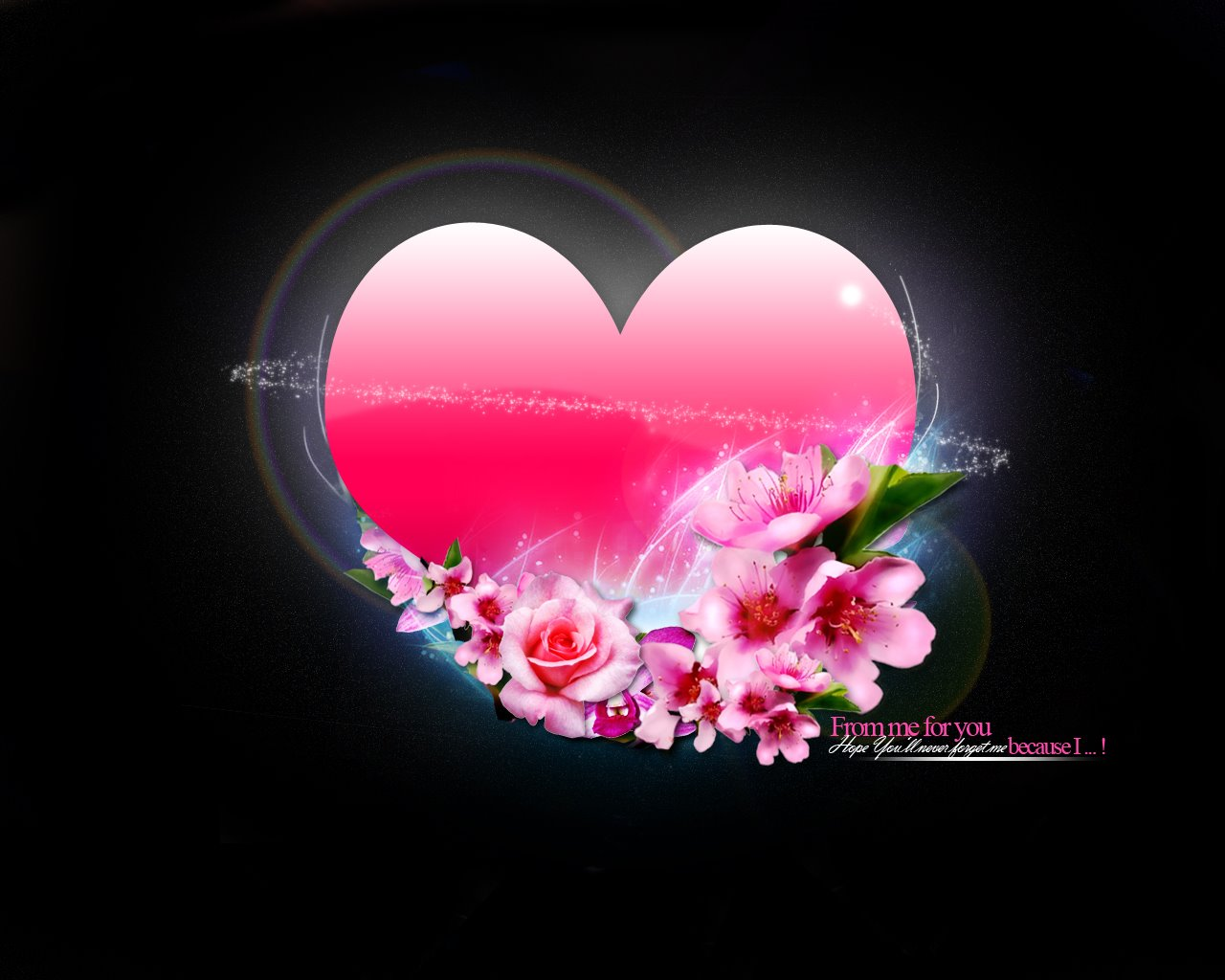 Wallpaper heart flowers flowers heart love heart flowers izmirmasajfo Choice Image