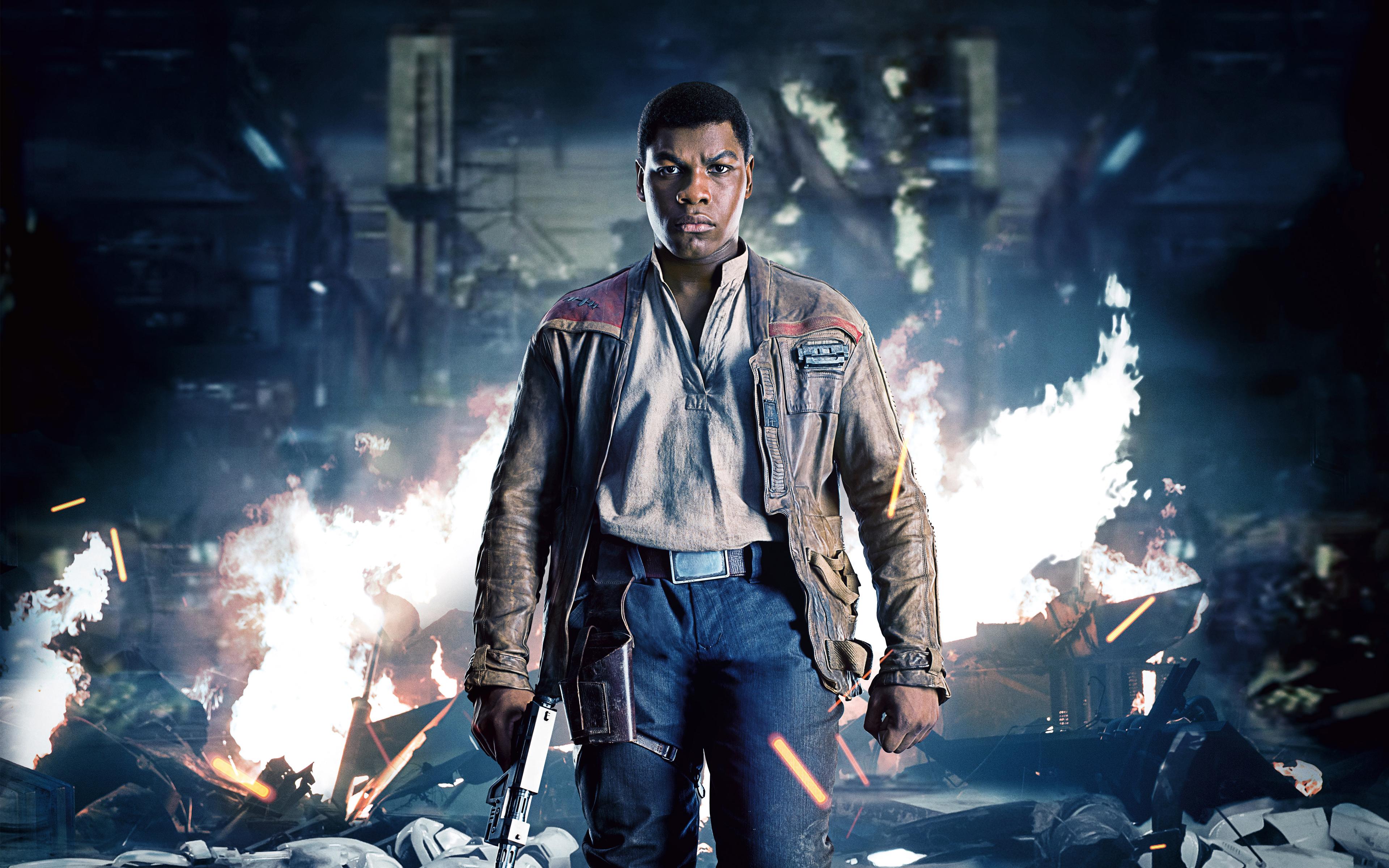 John Boyega As Finn Star Wars The Last Jedi 4K