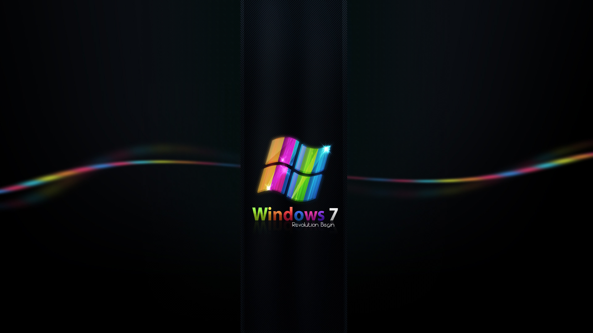 wallpaper rainbow colored windows 7 colored, power, rainbow, windows