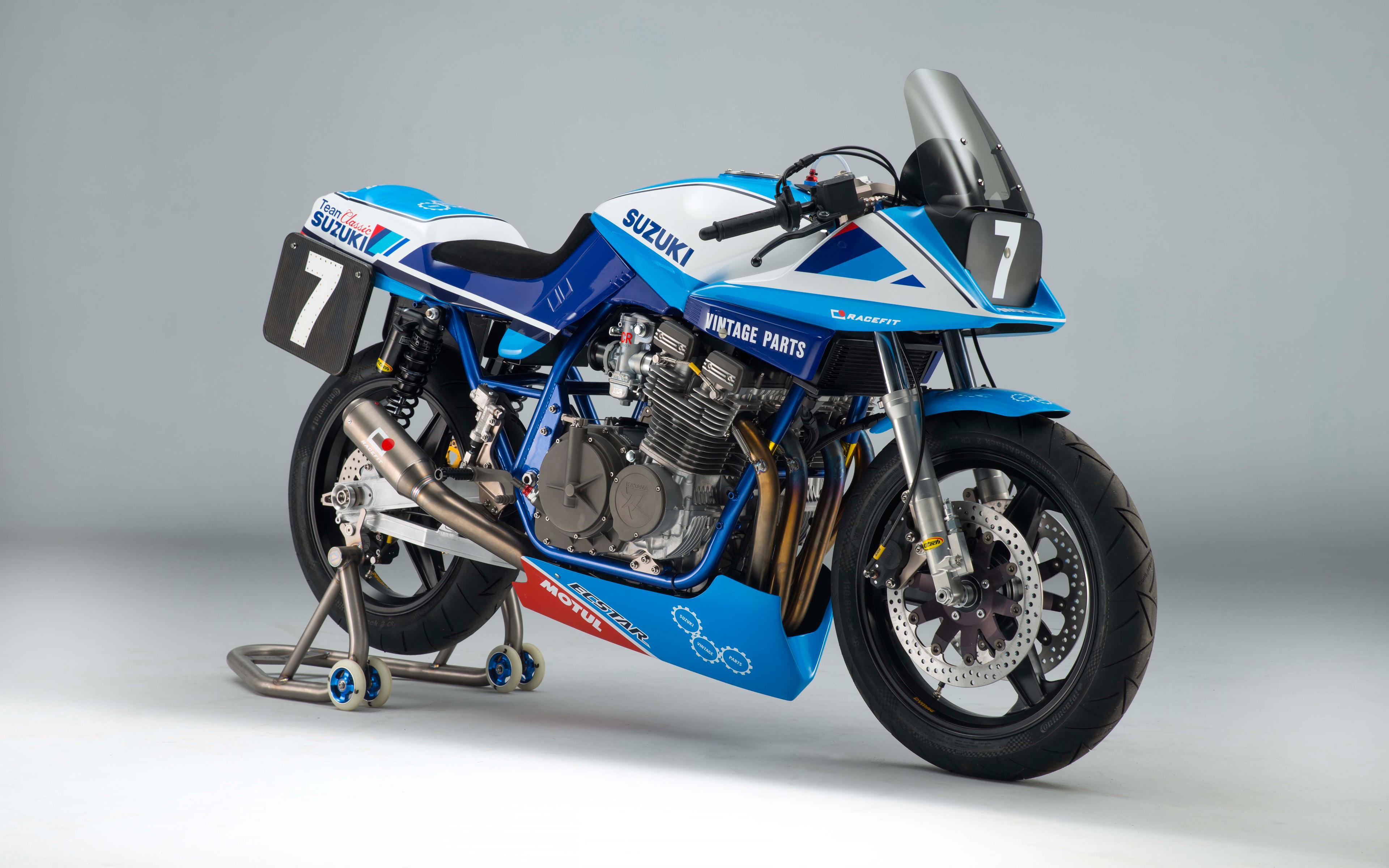 Wallpaper Team Clic Suzuki GSX1100SD Katana Race Bike 5K Bike ...