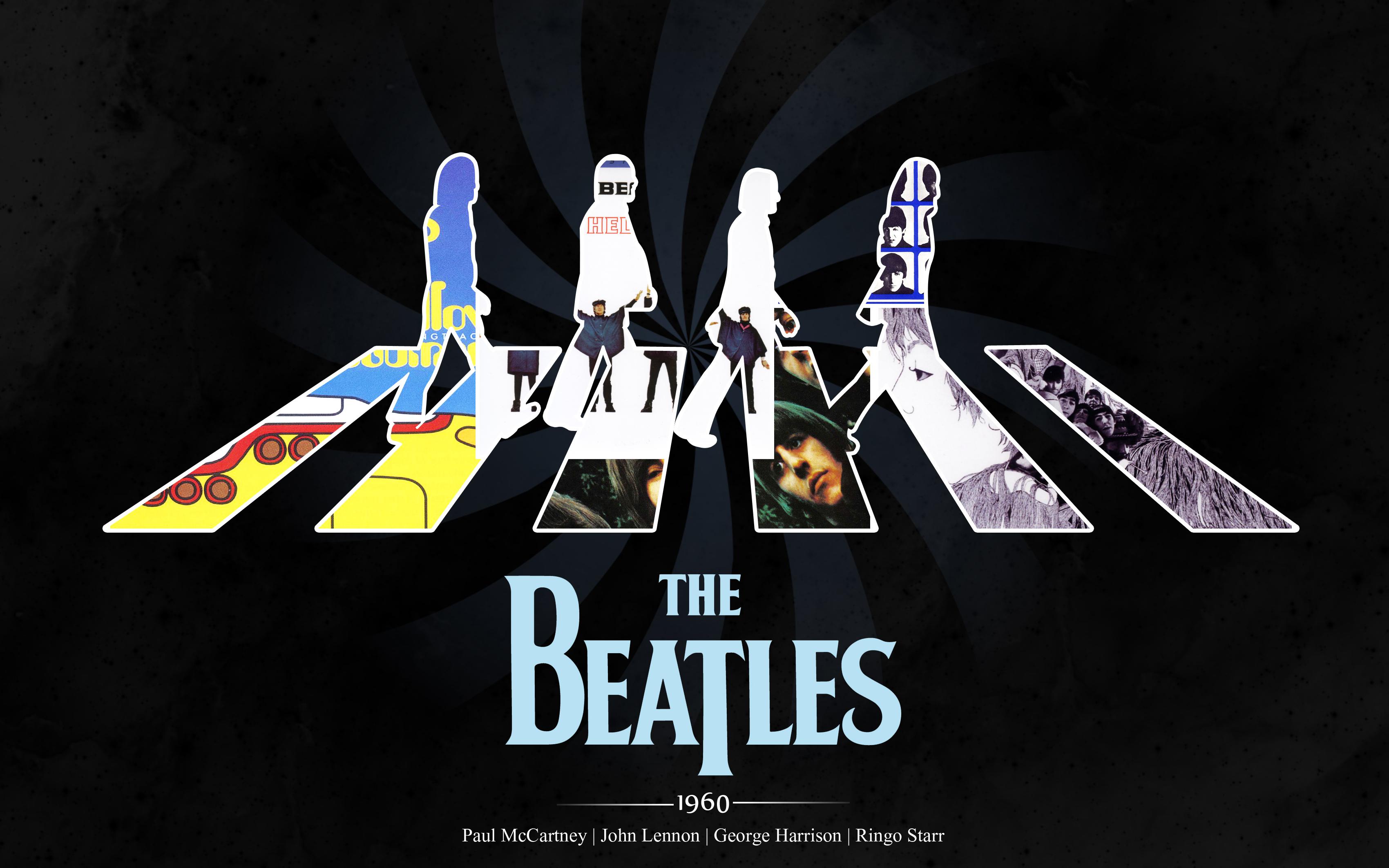 Wallpaper The Beatles 4K Guitars