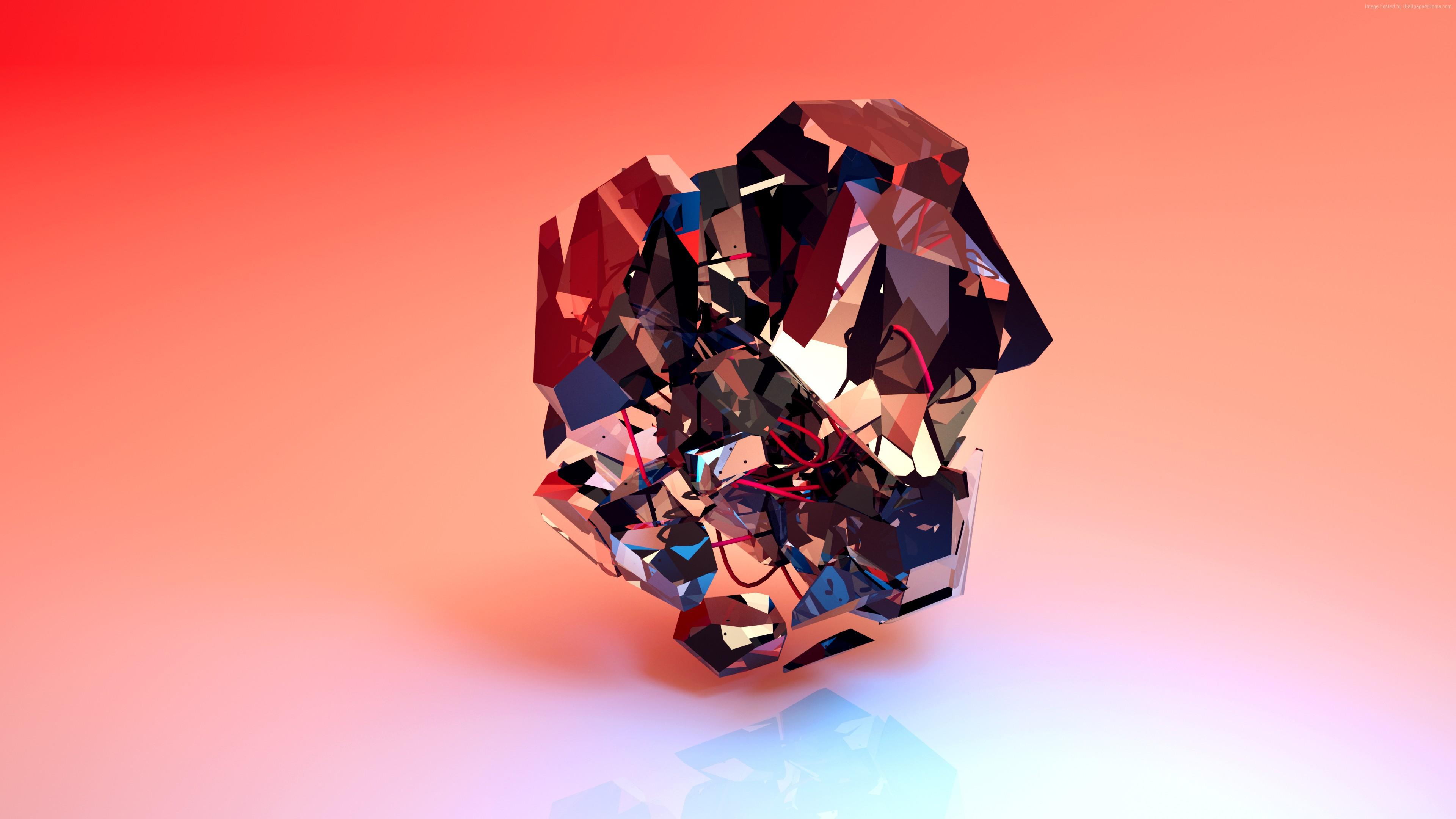 Deep Abstract Wallpaper 3D Shapes 4k 918279672