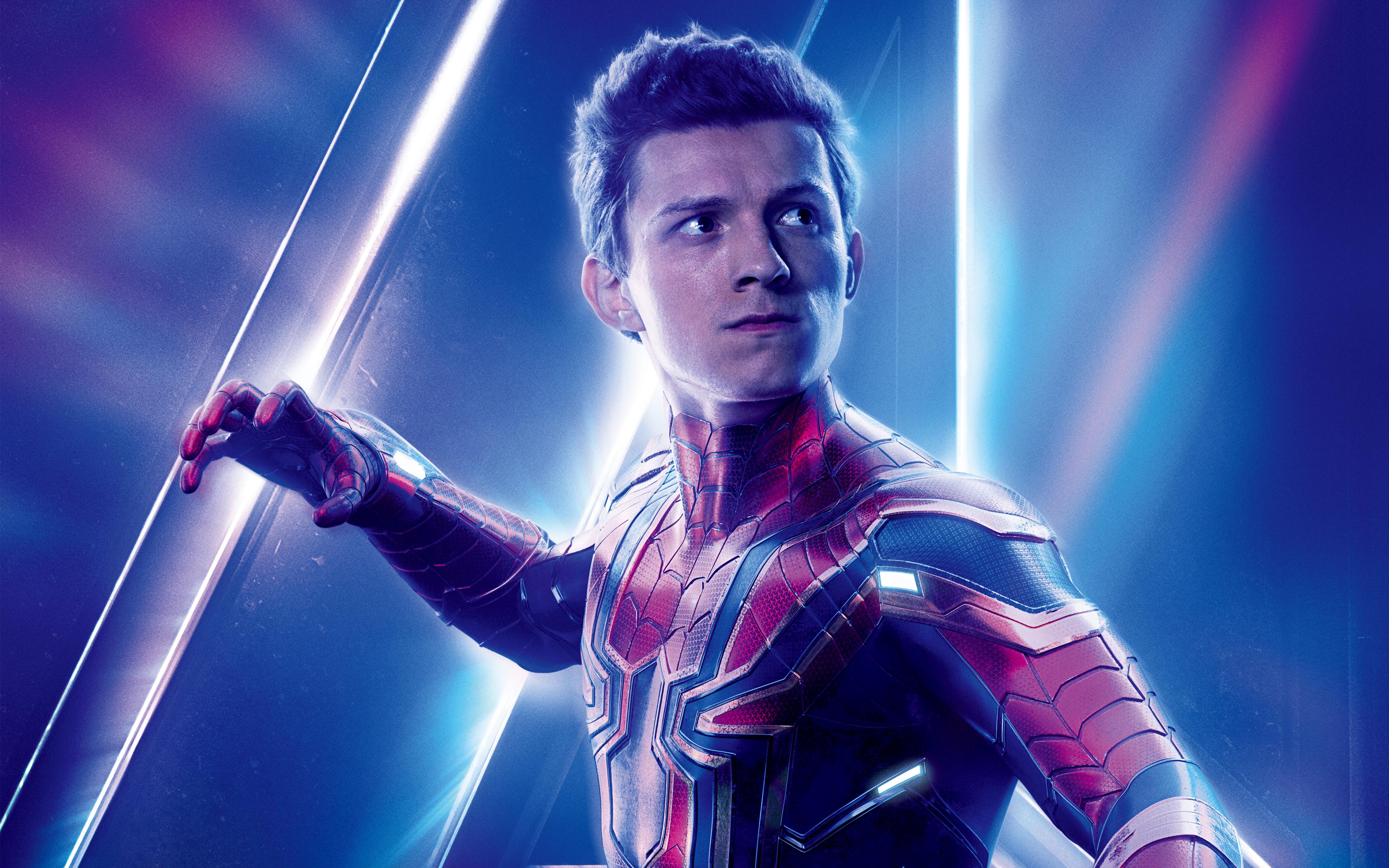 Wallpaper 4k Tom Holland As Spider Man Avengers Infinity War 4k 8k