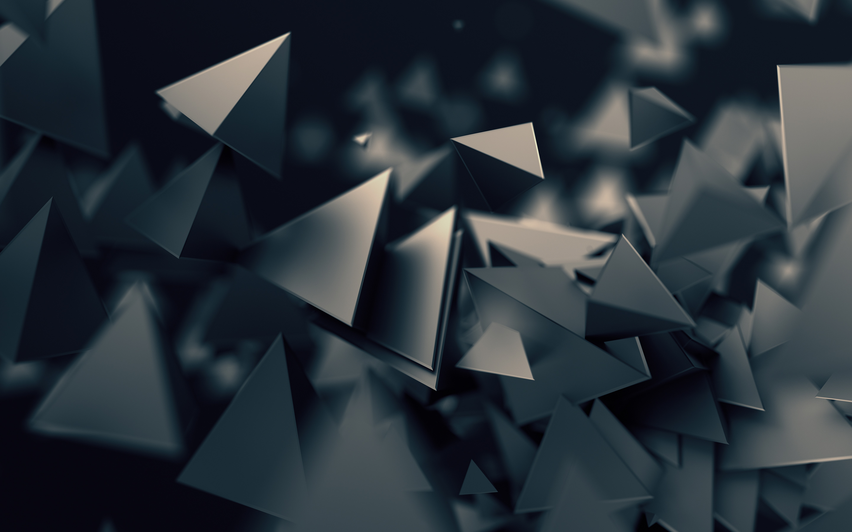 3D Triangles Dark684948181 - 3D Triangles Dark - Triangles, Illusion, Dark