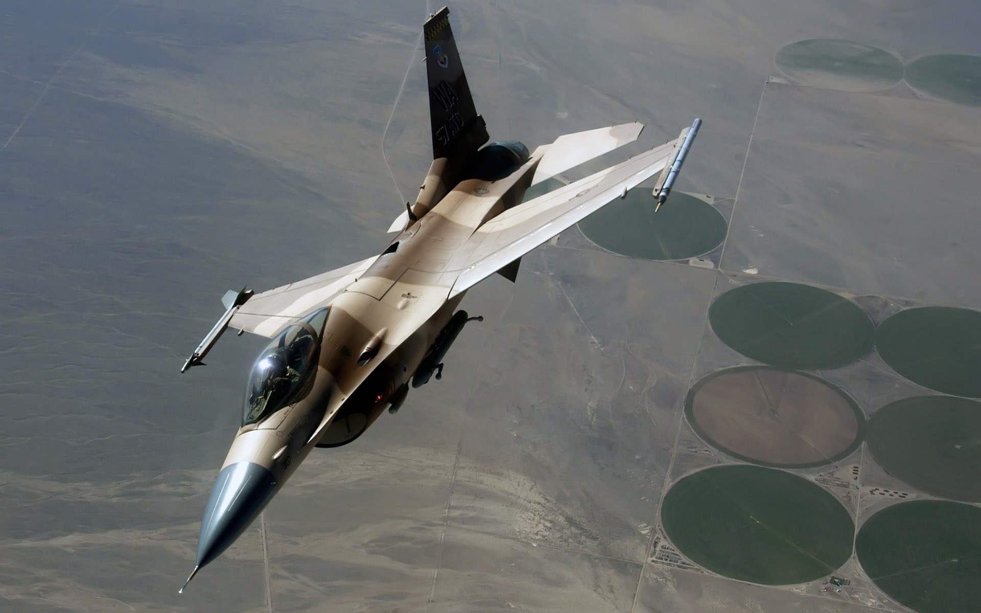 An F 16 Fighting Falcon During a Red Flag Exercise6319013059 - An F 16 Fighting Falcon During a Red Flag Exercise - Modern, Flag, Fighting, Falcon, Exercise, During