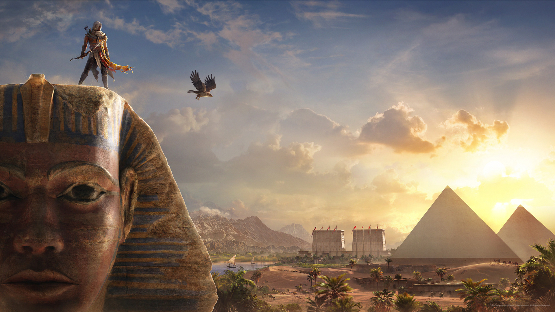 Wallpaper 4k Bayek Sphinx Assassins Creed Origins Assassins Bayek