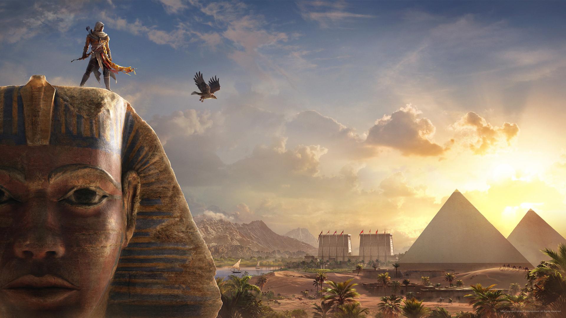 Wallpaper 4k Bayek Sphinx Assassins Creed Origins Assassins Bayek Creed Origins Sphinx Windrunner