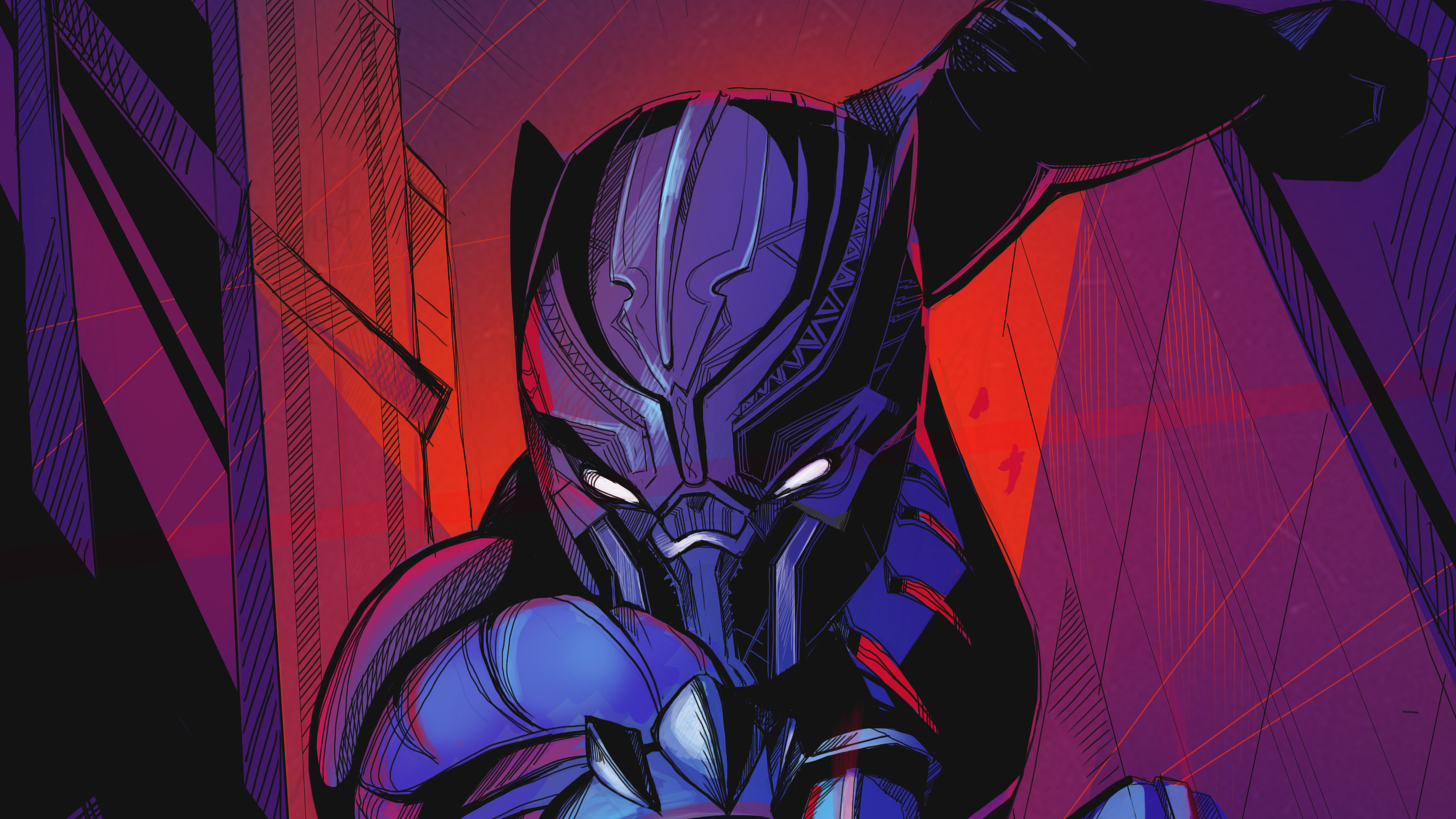 Black Panther Artwork2305212376 - Black Panther Artwork - Panther, Lance, Black, Artwork