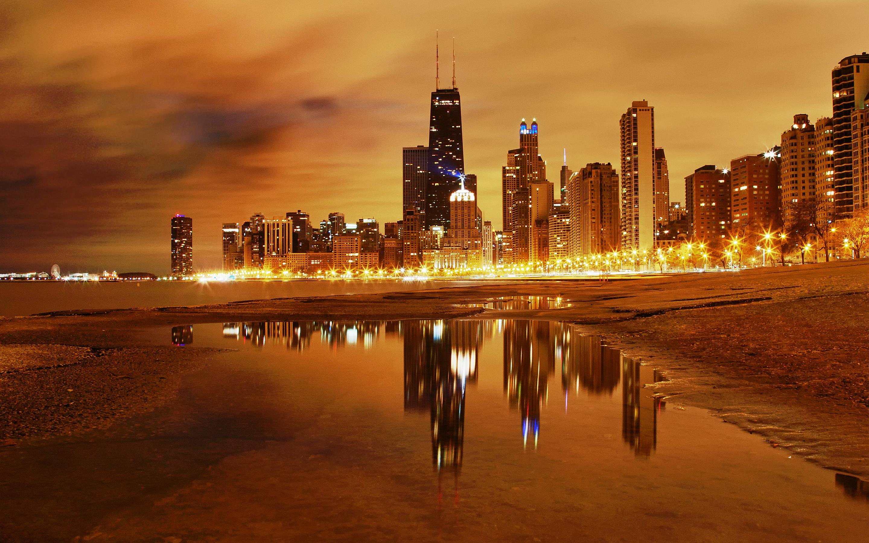 Wallpaper 4k Chicago Nights Chicago Nights Seattle