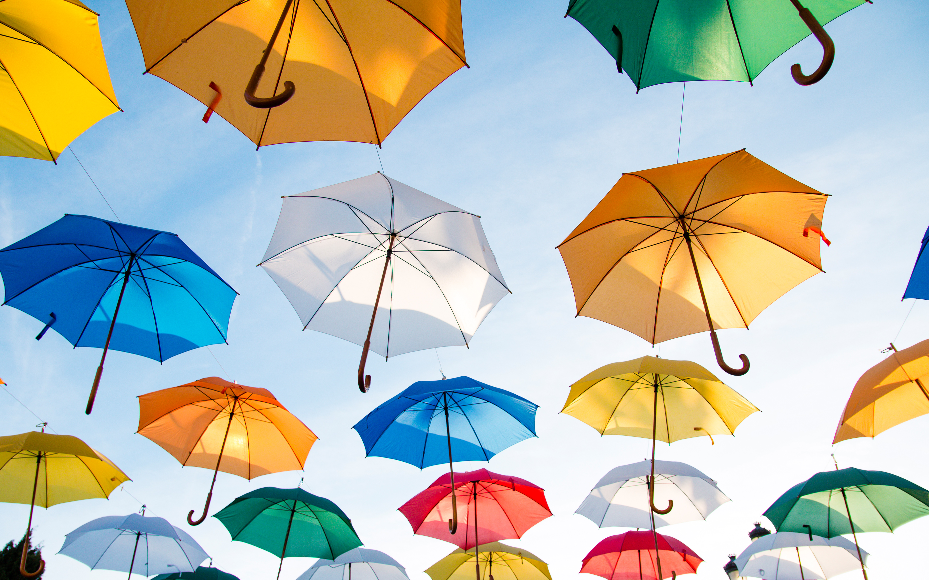 Colorful Umbrellas 4K527117596 - Colorful Umbrellas 4K - Umbrellas, Colorful, Candles