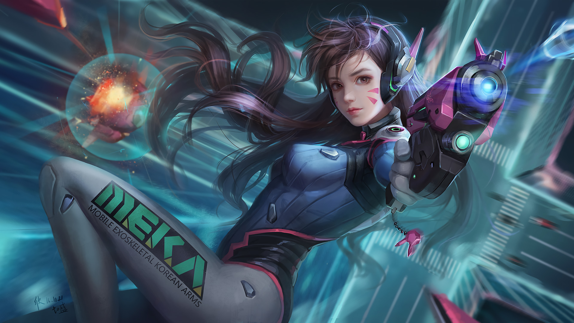 DVa Overwatch Artwork596559428 - DVa Overwatch Artwork - Overwatch, Dva, Artwork