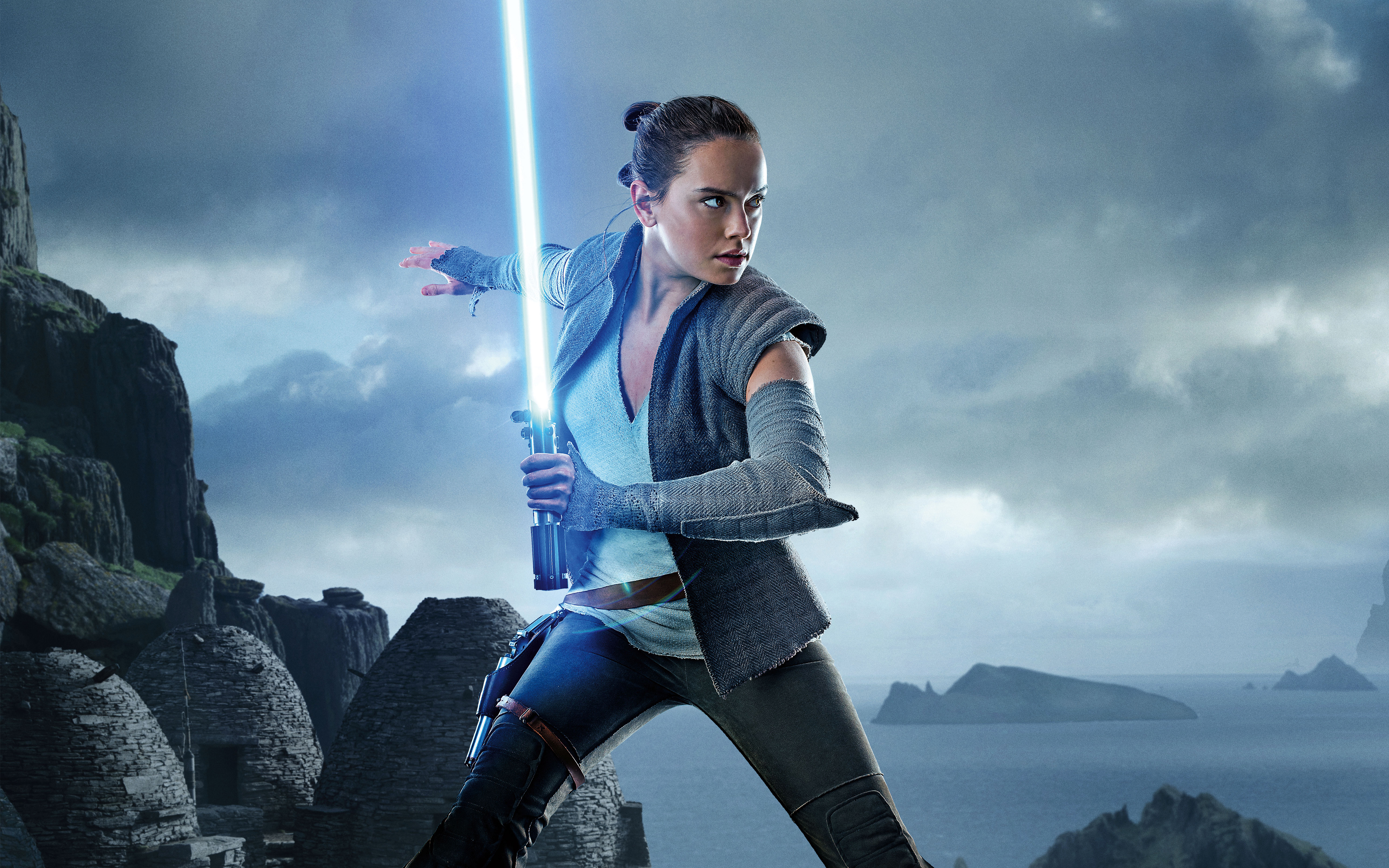 Wallpaper 4k Daisy Ridley As Rey Star Wars The Last Jedi 5k Daisy Jedi Last One Rey Ridley Star The Wars