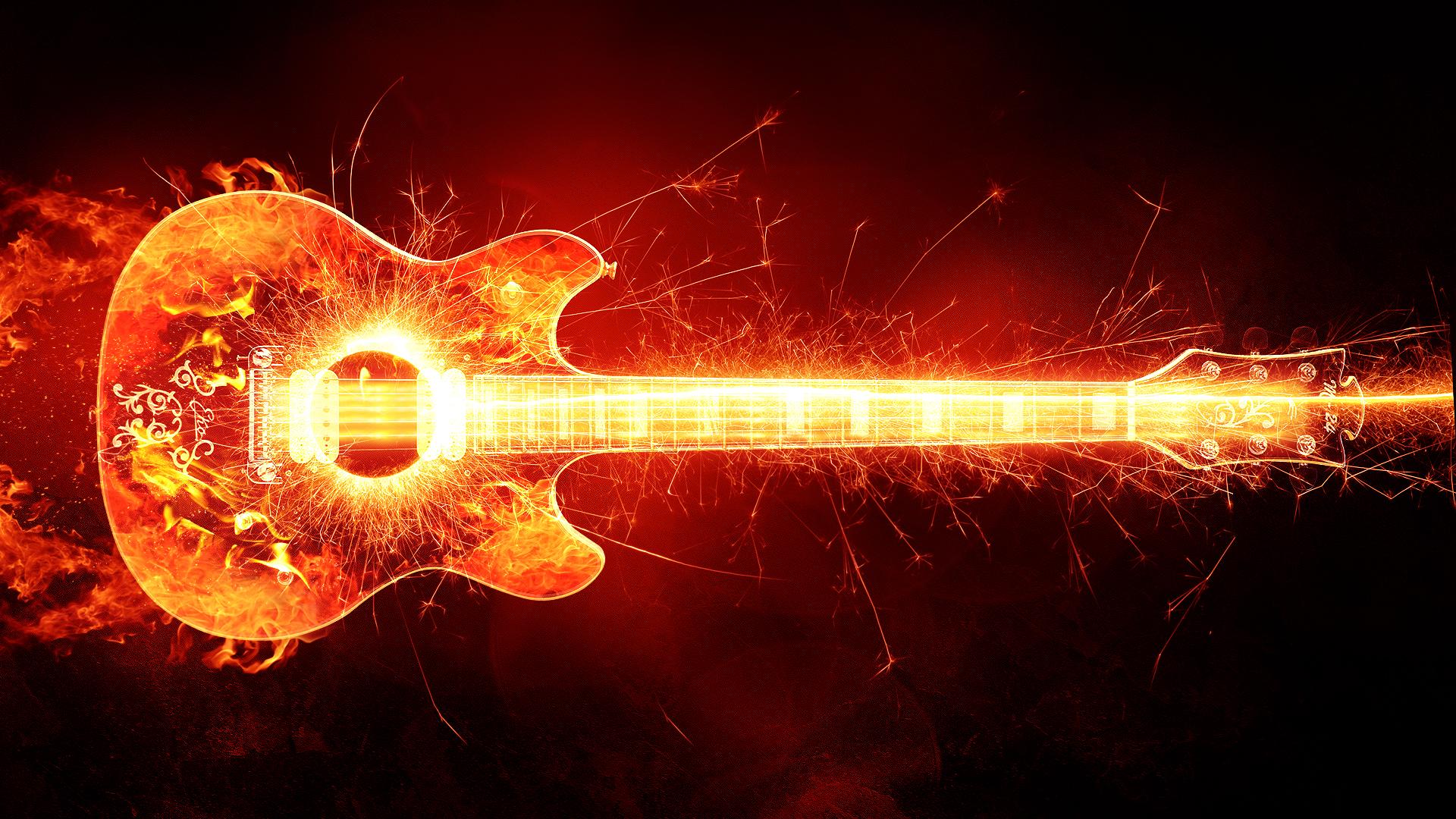 wallpaper 4k fire guitar artwork fire guitar