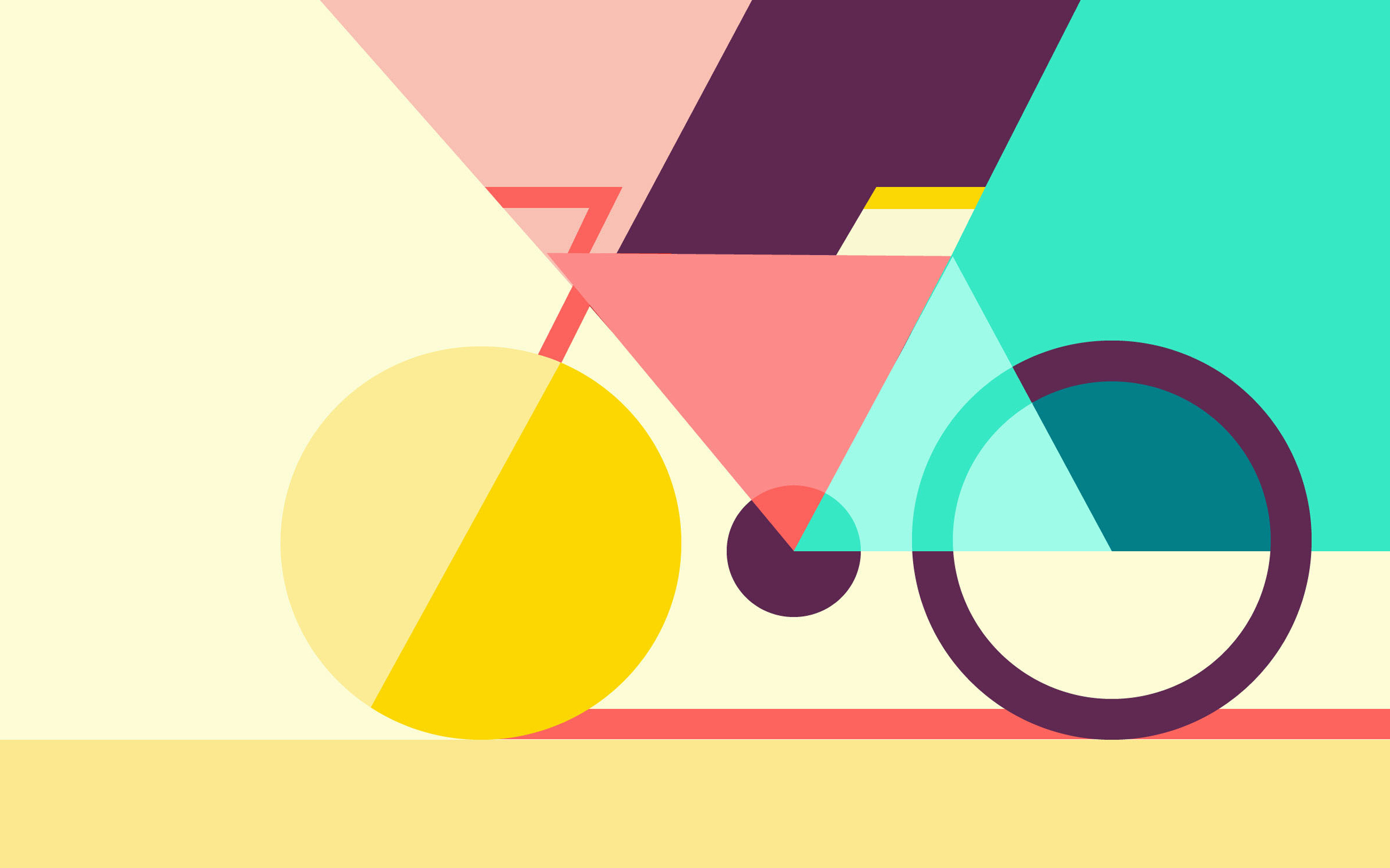 Geometric Abstract Bicycle728653106 - Geometric Abstract Bicycle - Neon, Geometric, Bicycle, abstract