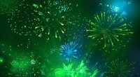 Green Fireworks 21919314169 200x110 - Green Fireworks 2 - green, Fireworks, abstract