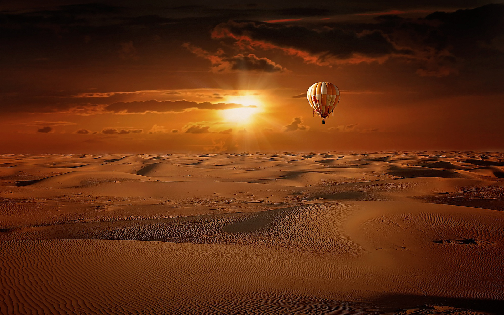 Hot Air Balloon Desert Sunrise774956322 - Hot Air Balloon Desert Sunrise - York, sunrise, Desert, Balloon