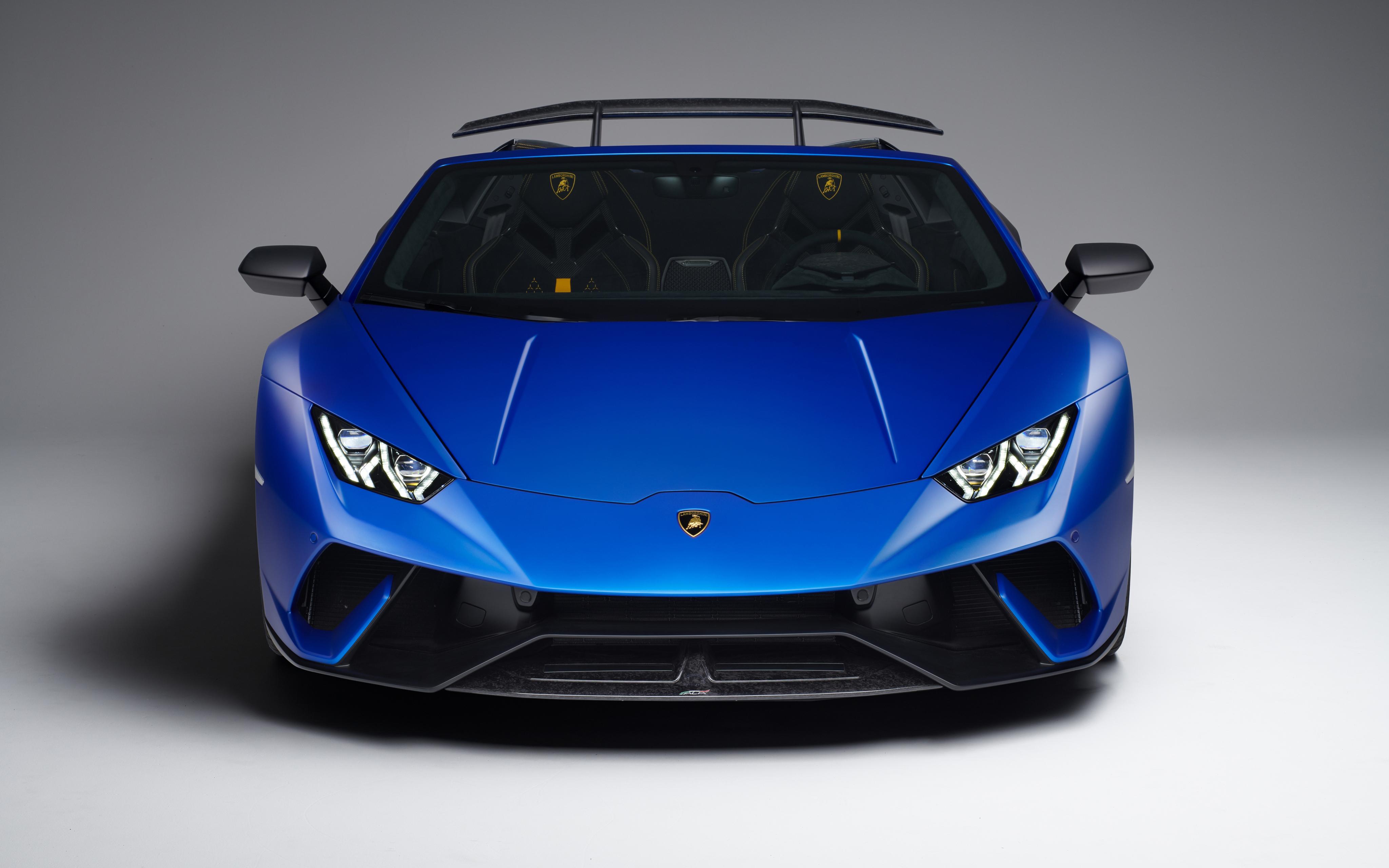 Wallpaper 4k Lamborghini Huracan Perfomante Spyder Geneva 2018 4k