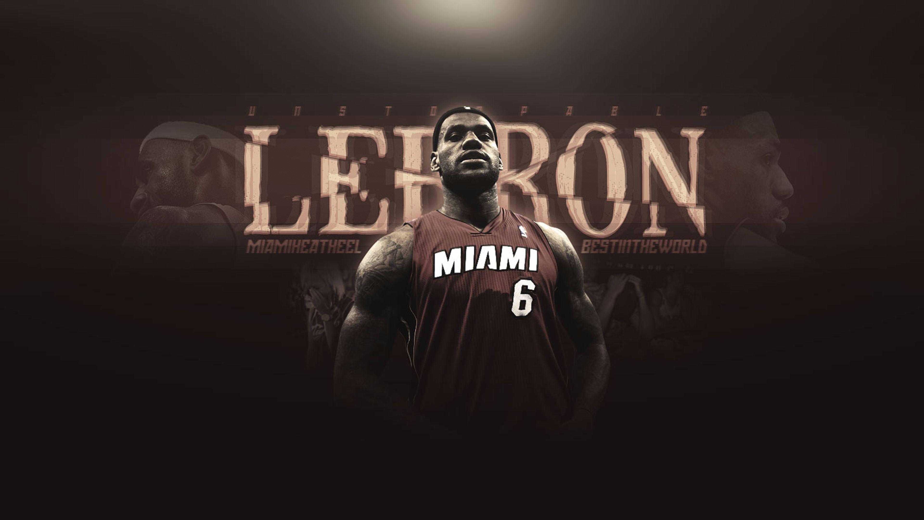 LeBron James Miami Heat 4K