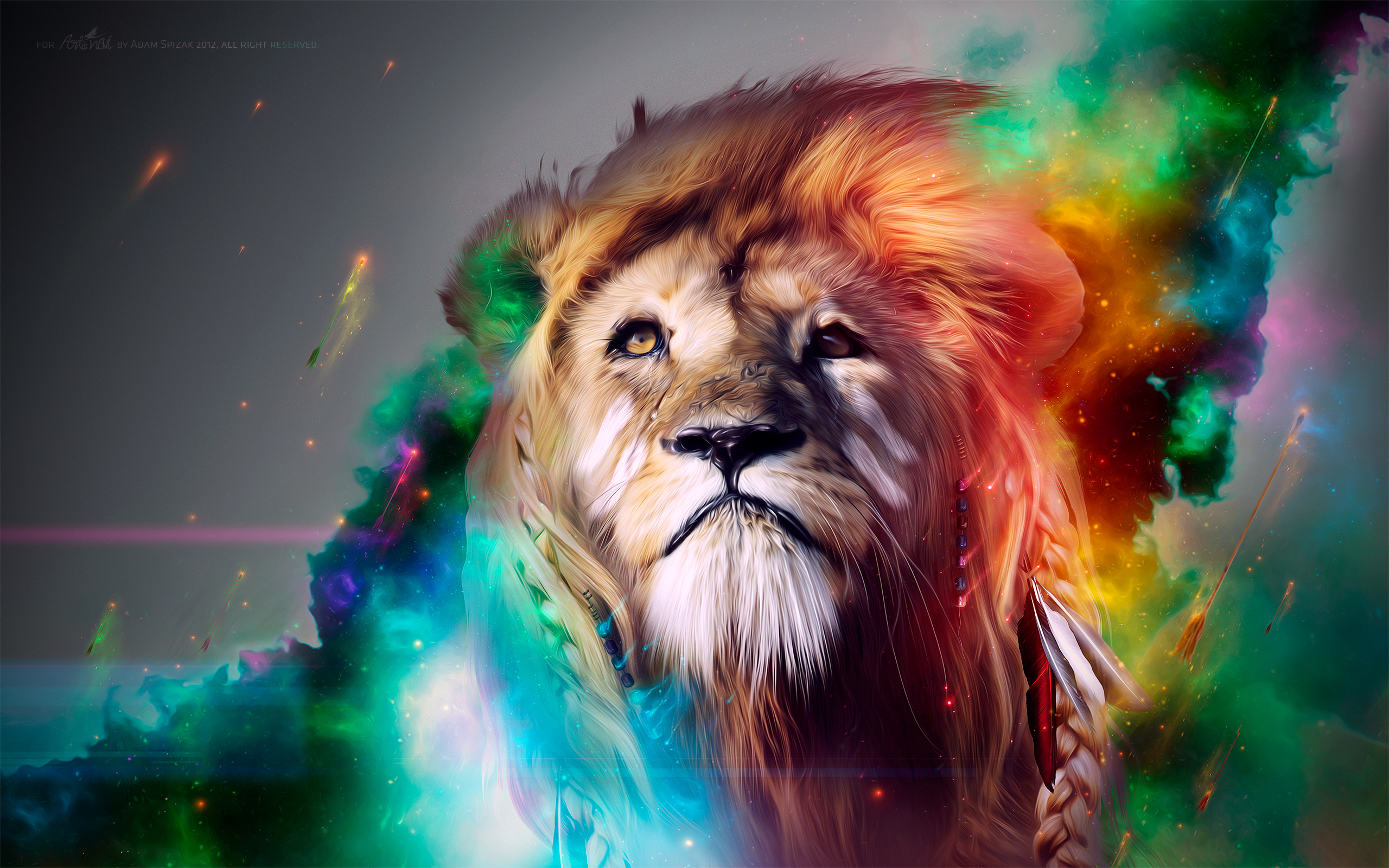 Lion CGI Artwork8819318822 - Lion CGI Artwork - Lion, fox, CGI, Artwork