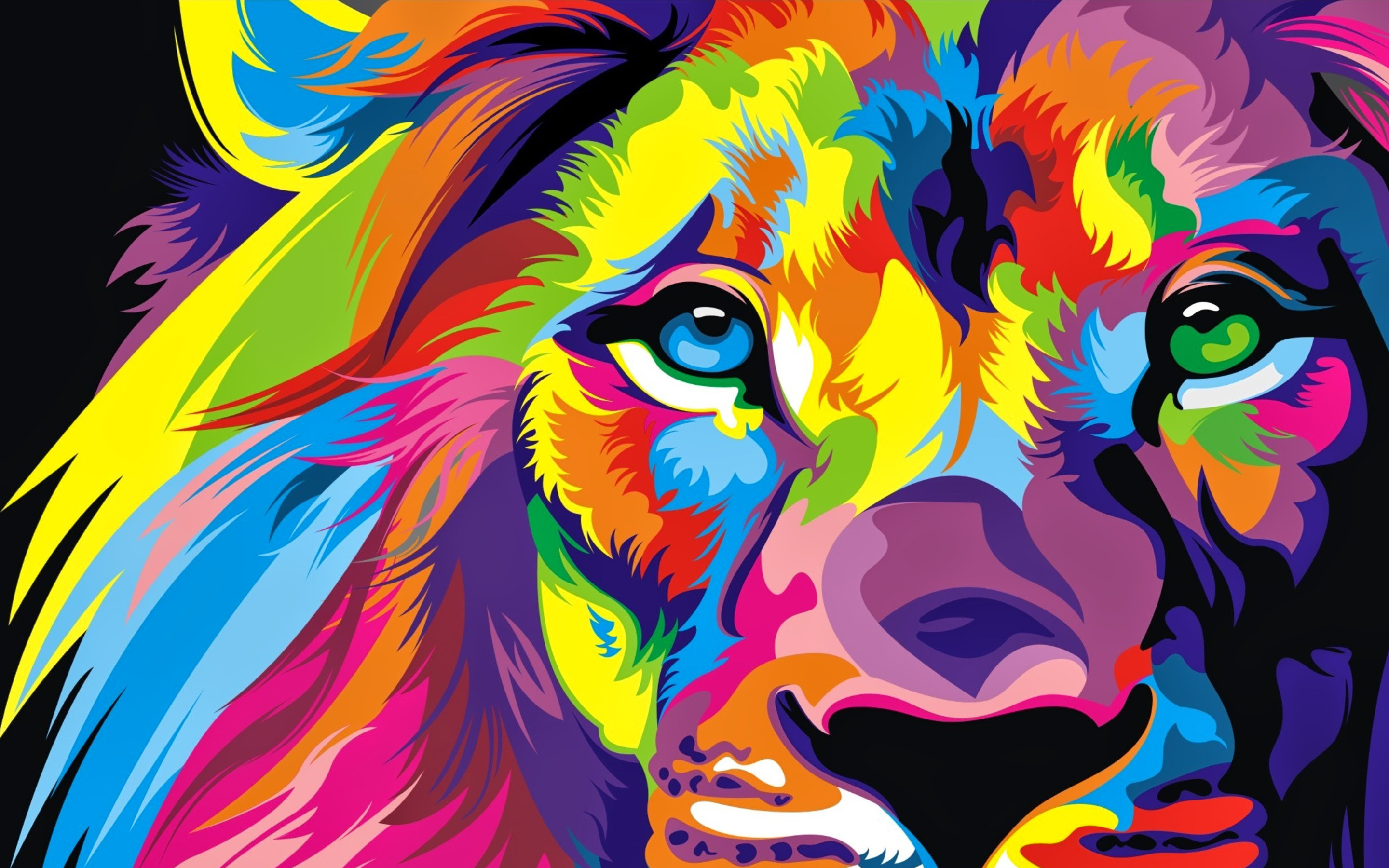 Lion Colorful Artwork4715716846 - Lion Colorful Artwork - Lion, Colorful, Batman, Artwork