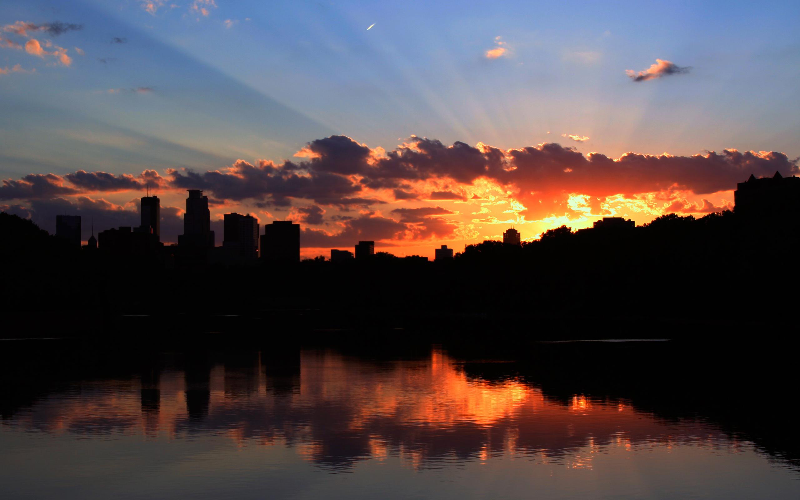 Wallpaper 4k Minneapolis Sunset Minneapolis Sunset