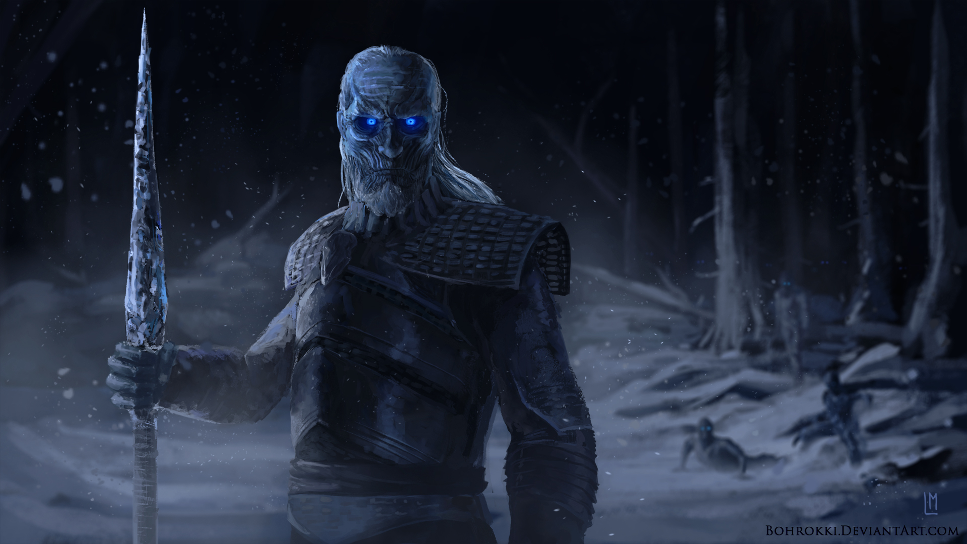 Night King White Walker Artwork927752972 - Night King White Walker Artwork - white, Walker, Night, King, Daredevil, Artwork