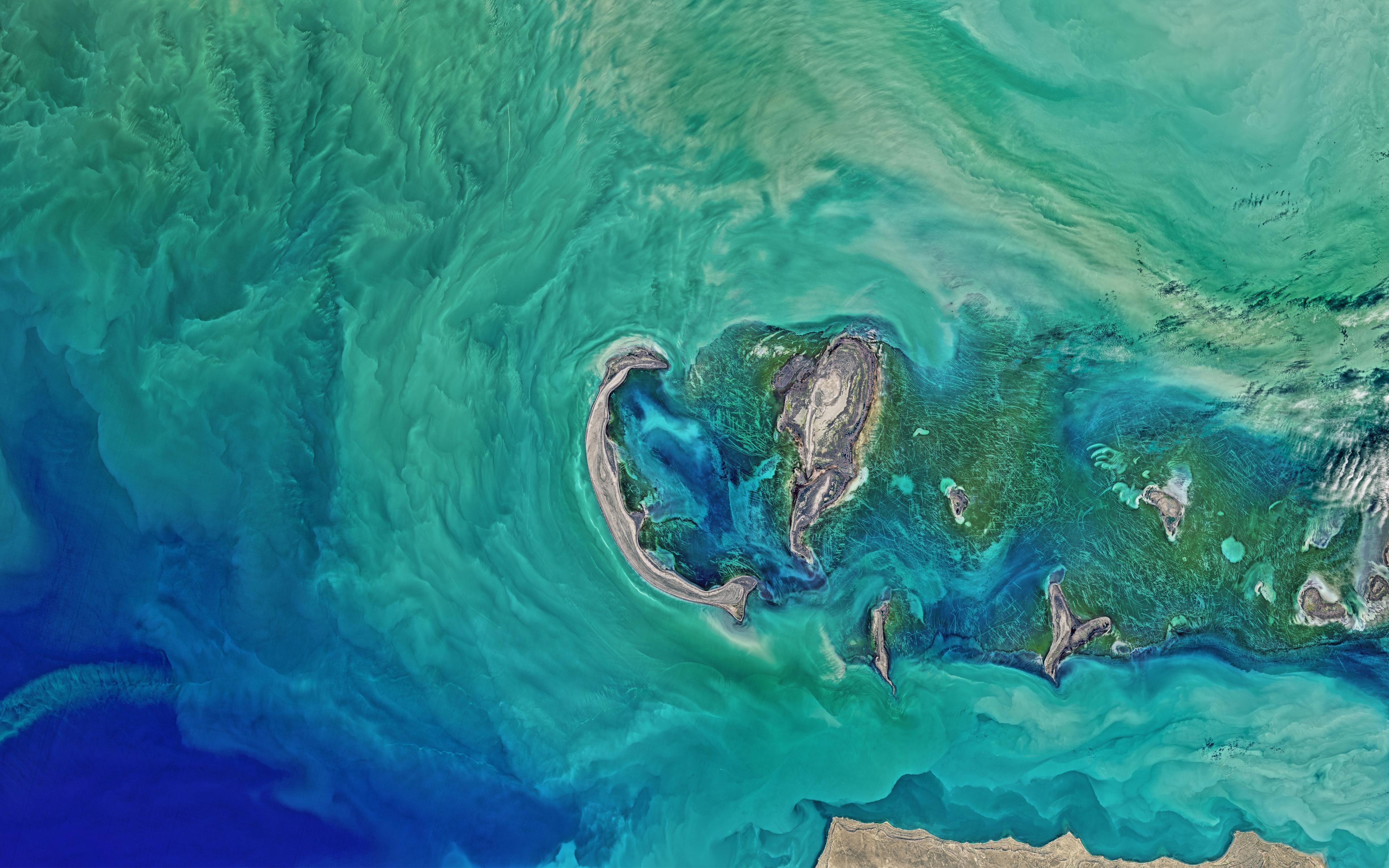 Wallpaper 4k North Caspian Sea Nasa 4k 8k Caspian Earth