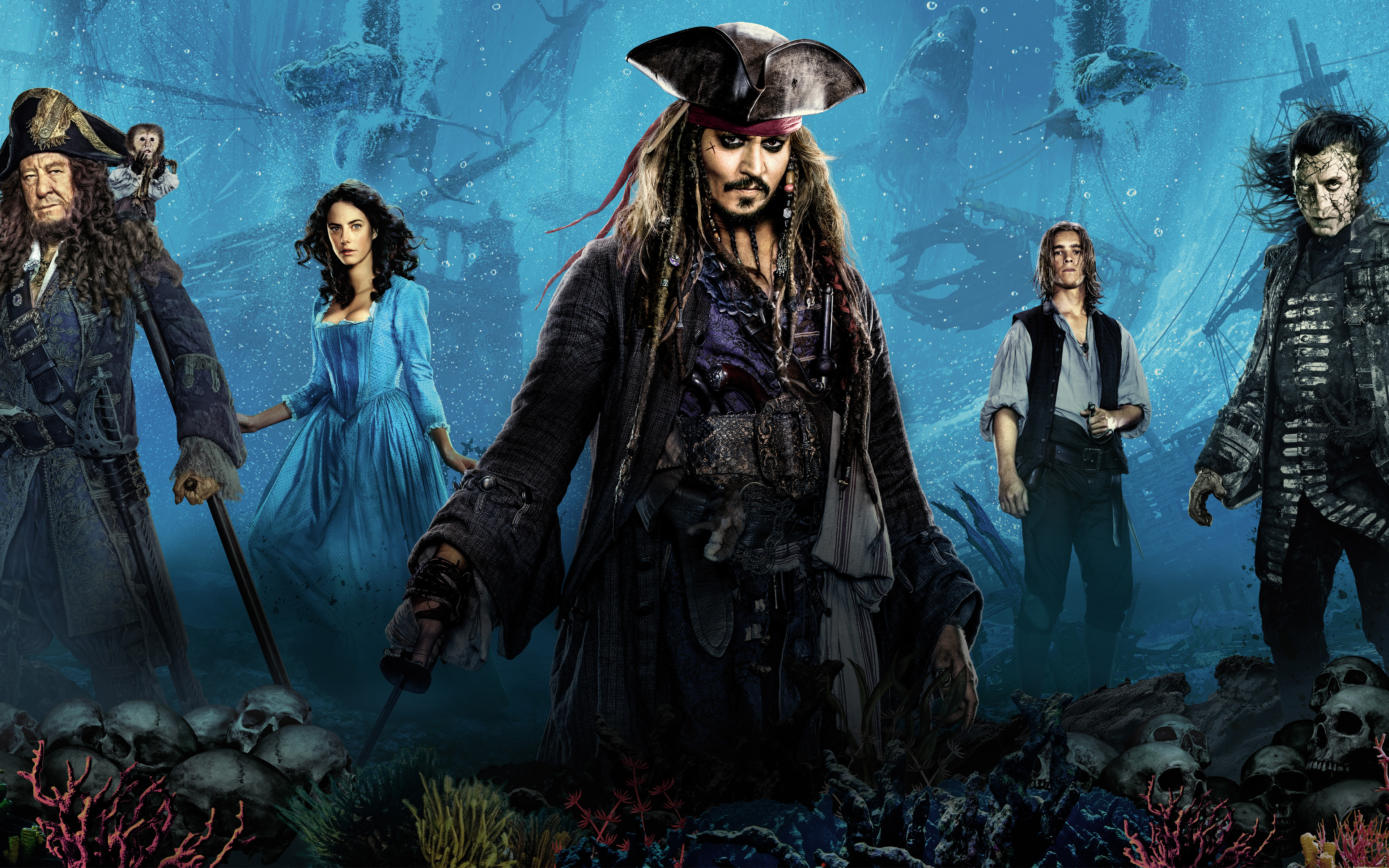 Pirates of the Caribbean Dead Men Tell No Tales 4K 8K 2017440472894 - Pirates of the Caribbean Dead Men Tell No Tales 4K 8K 2017 - The, Tell, Tales, Pirates, Men, Dead, Caribbean, Birds, 2017