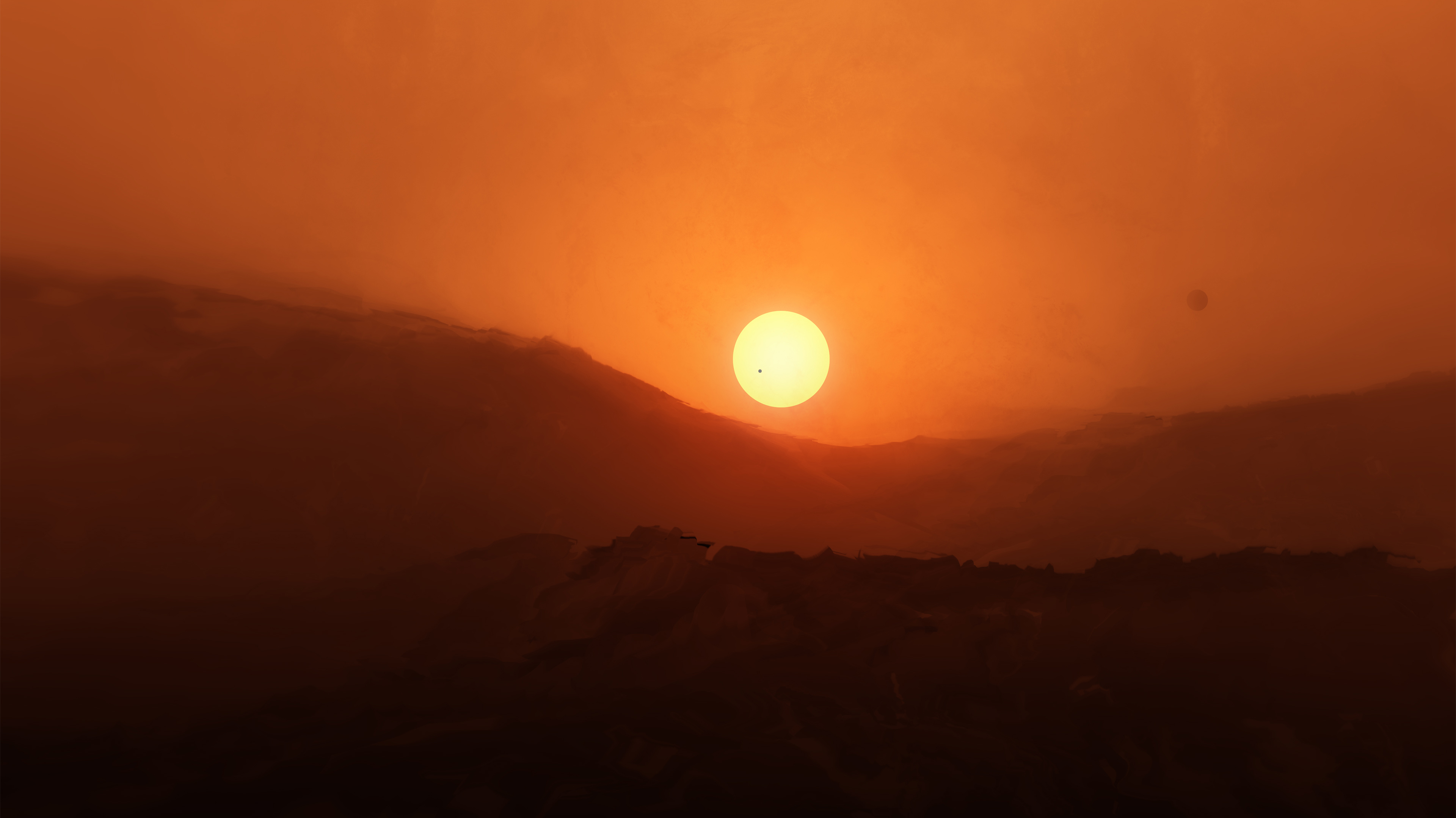 Sunrise Red Planet 4K4536215830 - Sunrise Red Planet 4K - sunrise, red, Planet