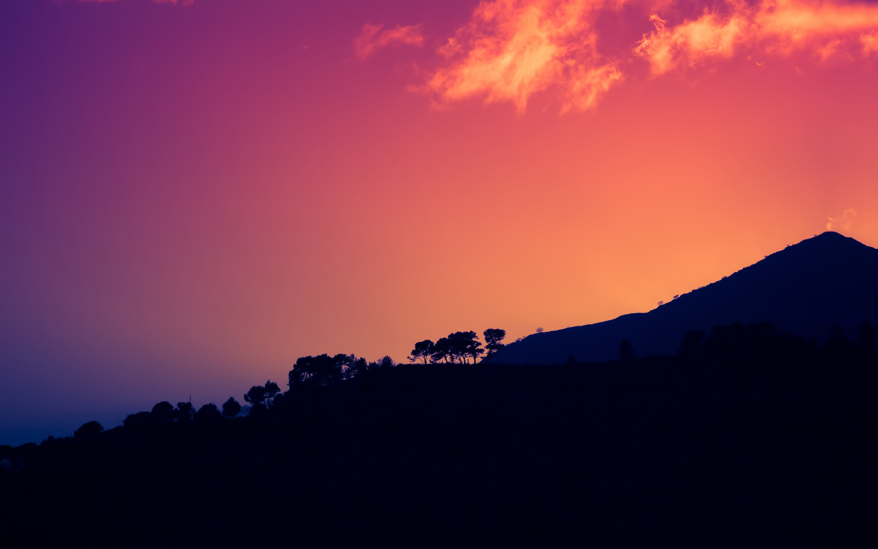 Sunset Dark Mountains Italy HD217855059 - Sunset Dark Mountains Italy HD - Supermoon, sunset, Mountains, Italy, Dark