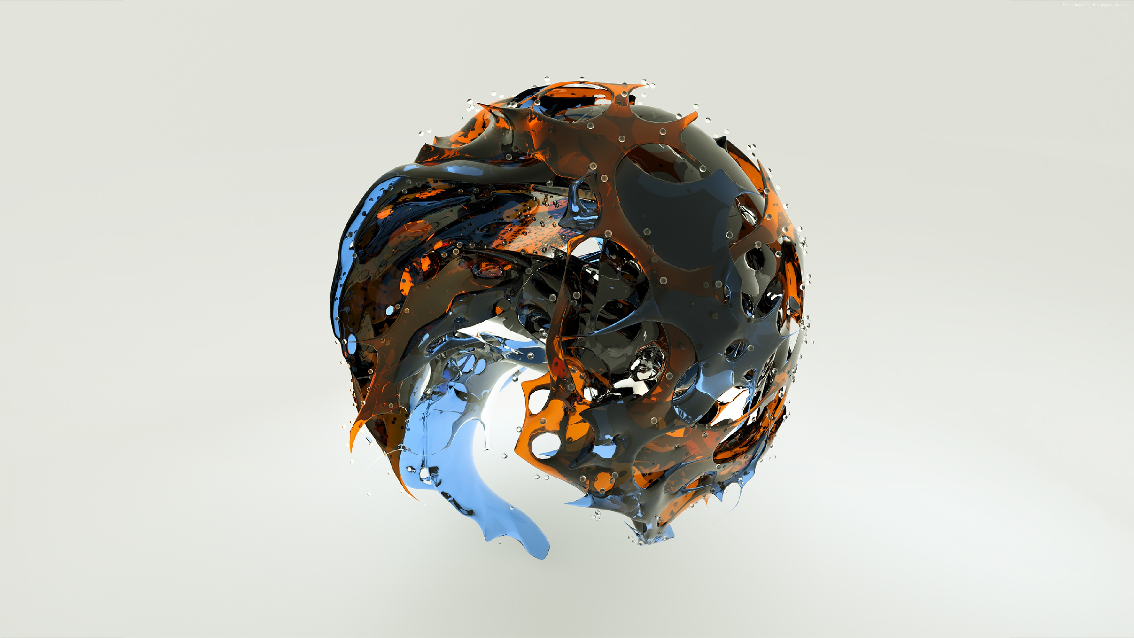 Wallpaper sphere, 3D, glass, HD, Abstract 4134710497 - Wallpaper sphere, 3D, glass, HD, Abstract - Sphere, HD, Glass, 3D