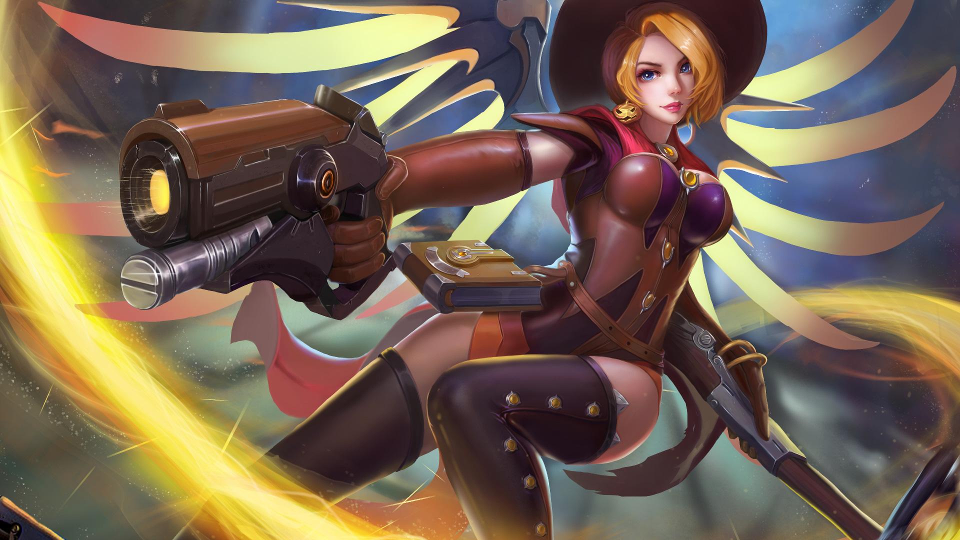 Wallpaper 4k Witch Mercy Overwatch Mercy Overwatch