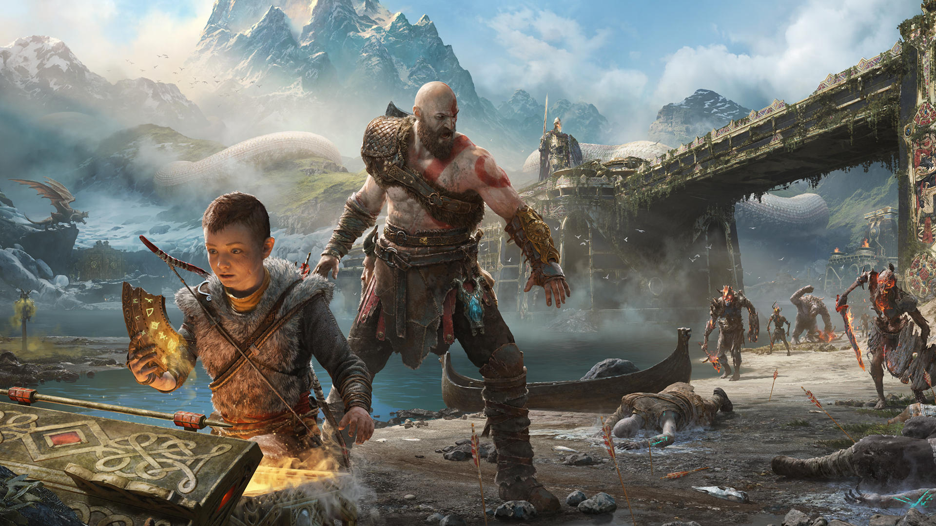 Kratos and Atreus in God of War414411624 - Kratos and Atreus in God of War - War, Kratos, God, Atreus, and, Agony
