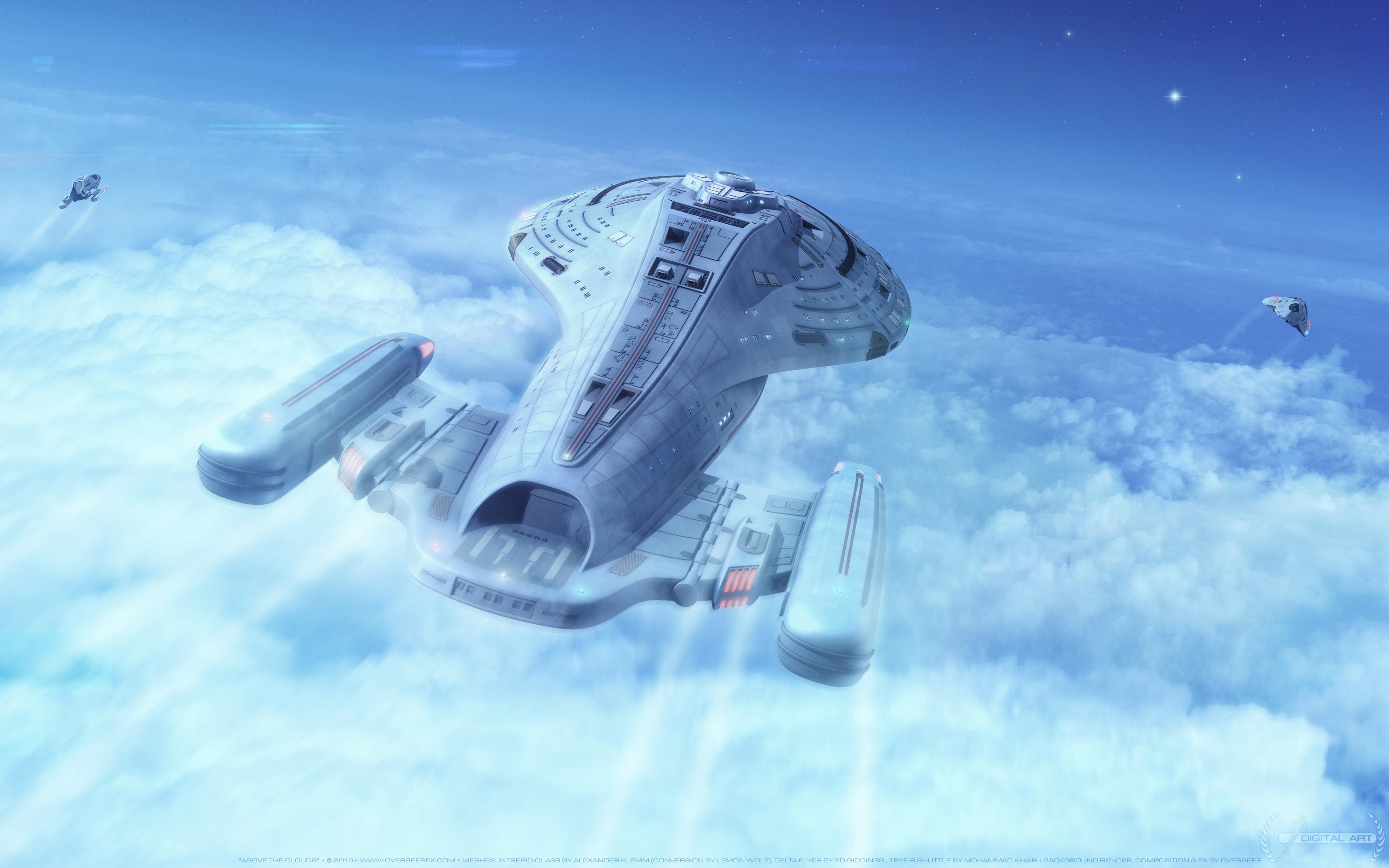 Wallpaper 4k Star Trek Voyager Spaceship 4k Planets Spaceship