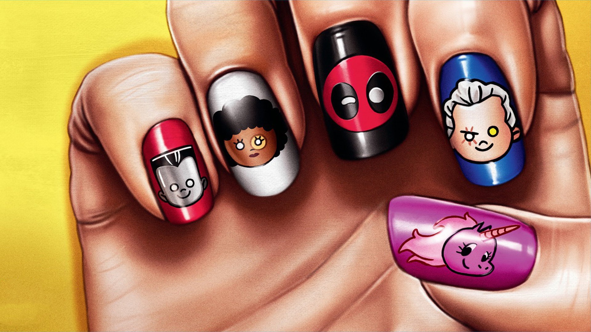 Deadpool 2 Movie Nail Paint Poster - Deadpool 2 Movie Nail Paint Poster - Wallpapers, 4k