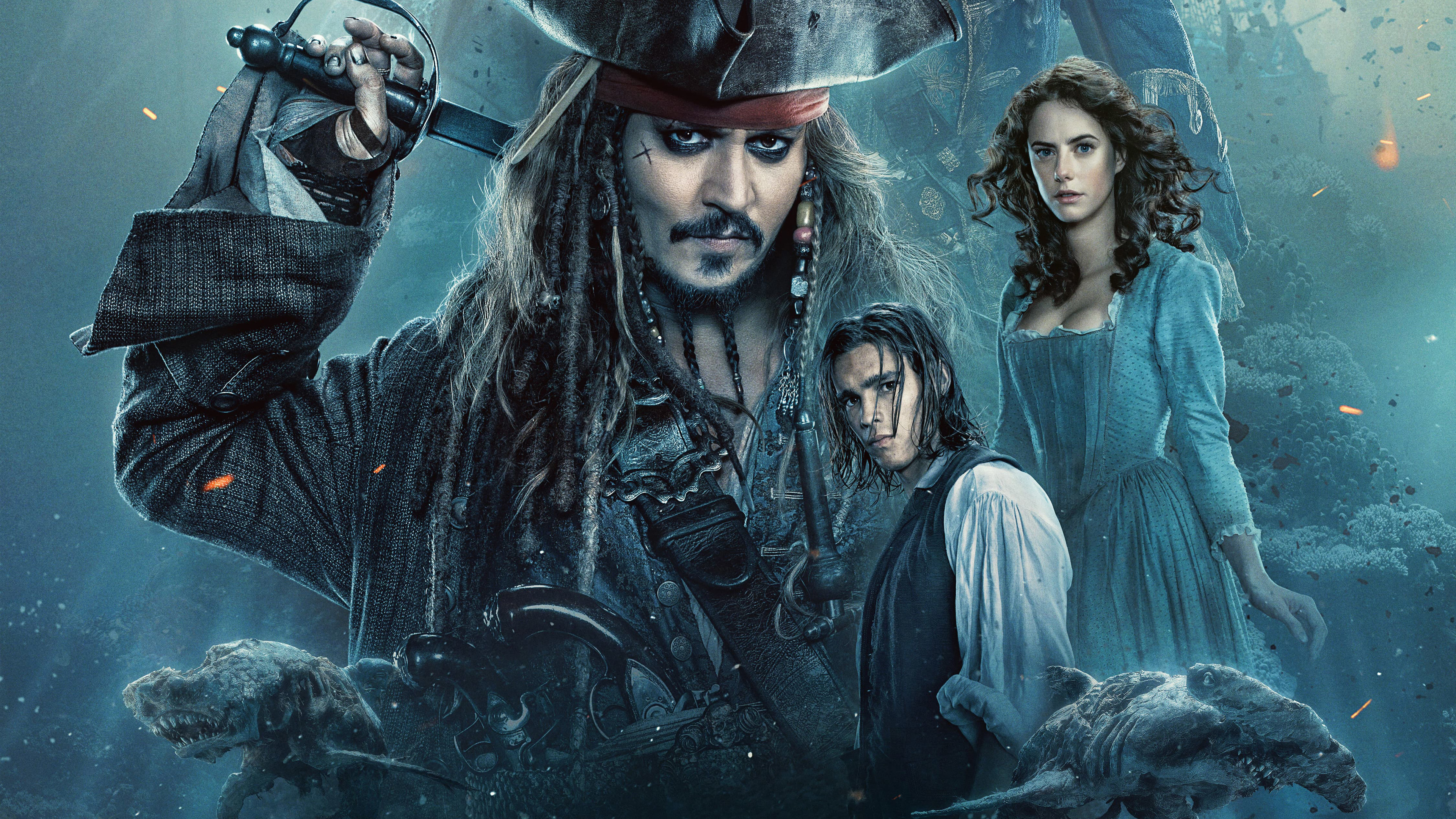 Wallpaper 4k 2017 Pirates Of The Caribbean Dead Men Tell No