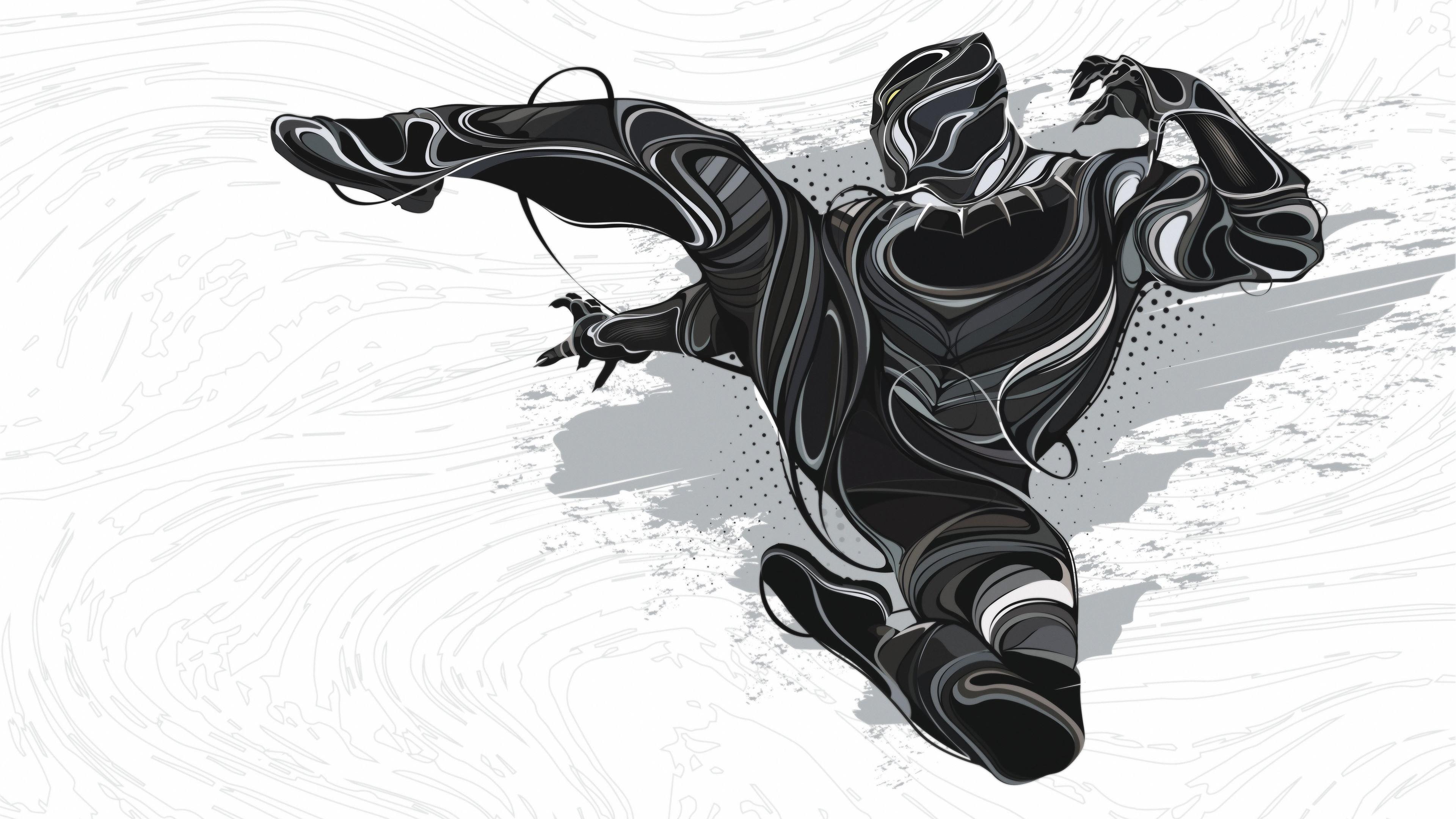 4k black panther art 1537645983 - 4k Black Panther Art - superheroes wallpapers, digital art wallpapers, black panther wallpapers, behance wallpapers, artwork wallpapers, art wallpapers, 4k-wallpapers