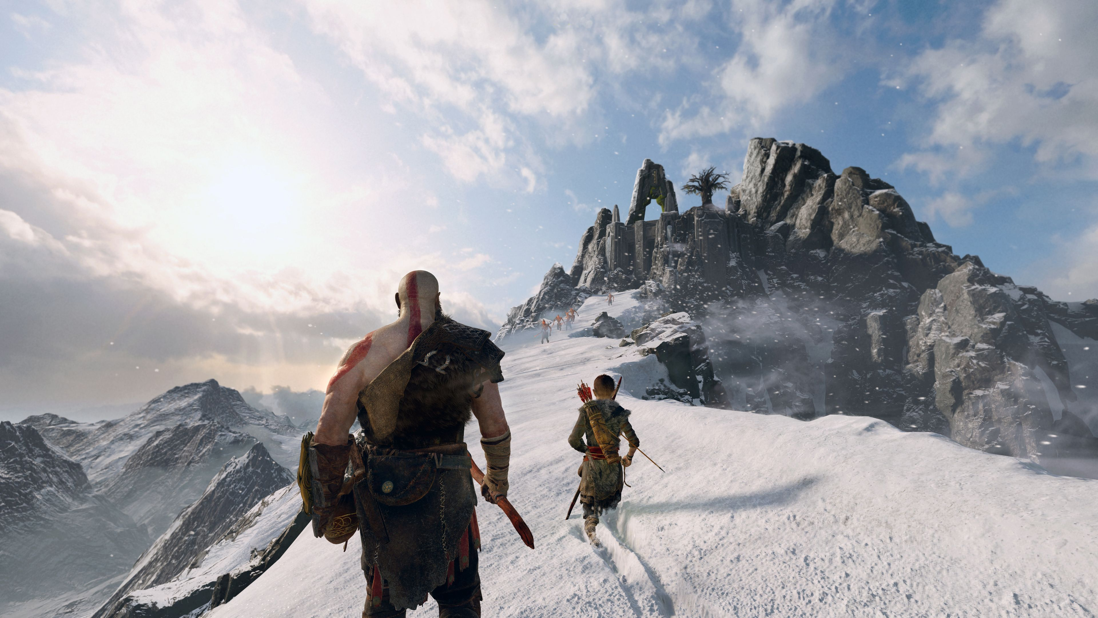 Wallpaper 4k 4k God Of War 4 Kratos And Atreus 2018 2018