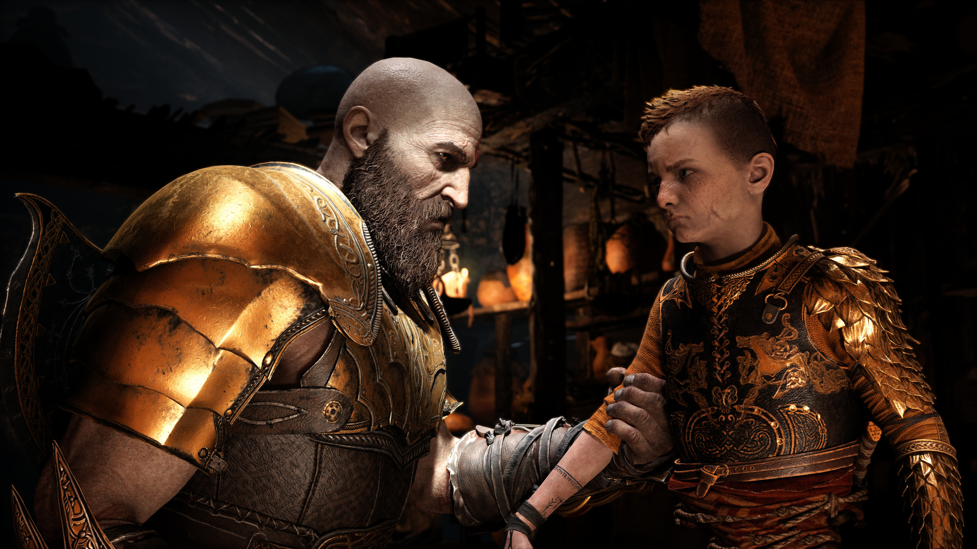 Wallpaper 4k 4k God Of War 4 Kratos And Atreus 4k Wallpapers