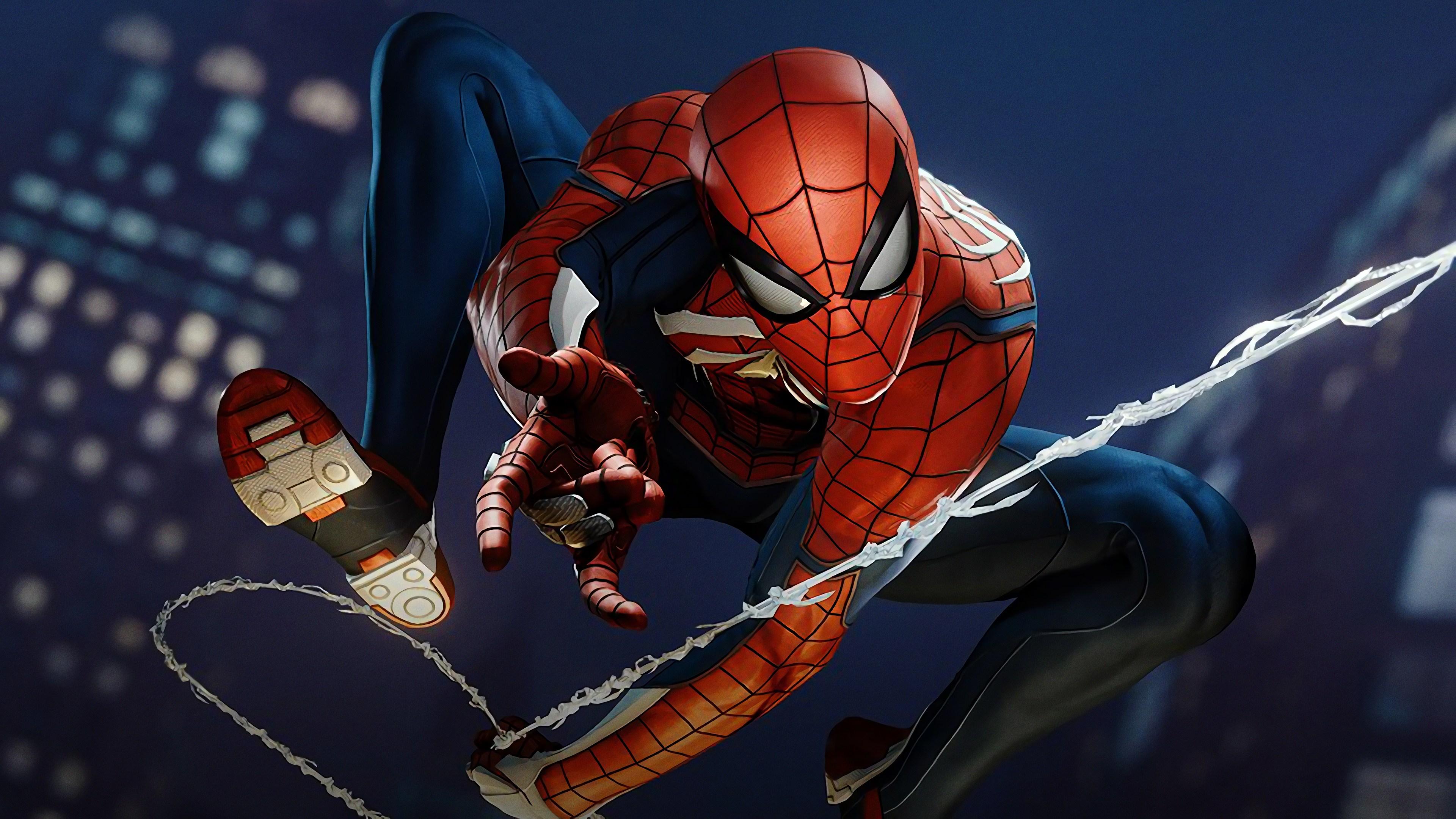 4k Spiderman Ps4 superheroes wallpapers, spiderman ...