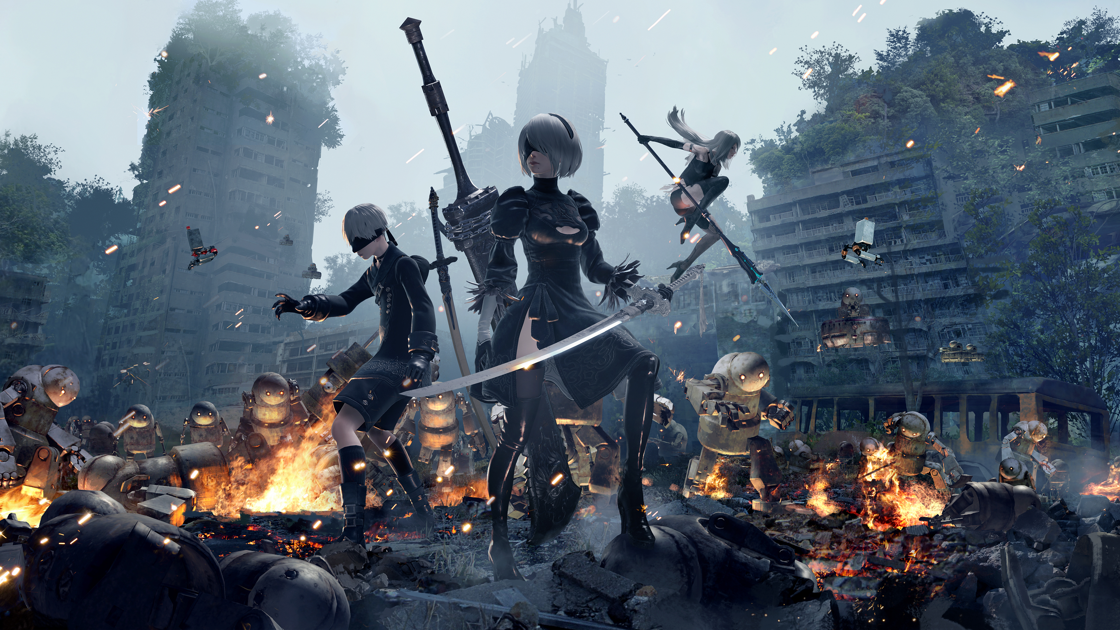Wallpaper 4k 9s 2b And A2 Nier Automata 4k 2018 Games Wallpapers