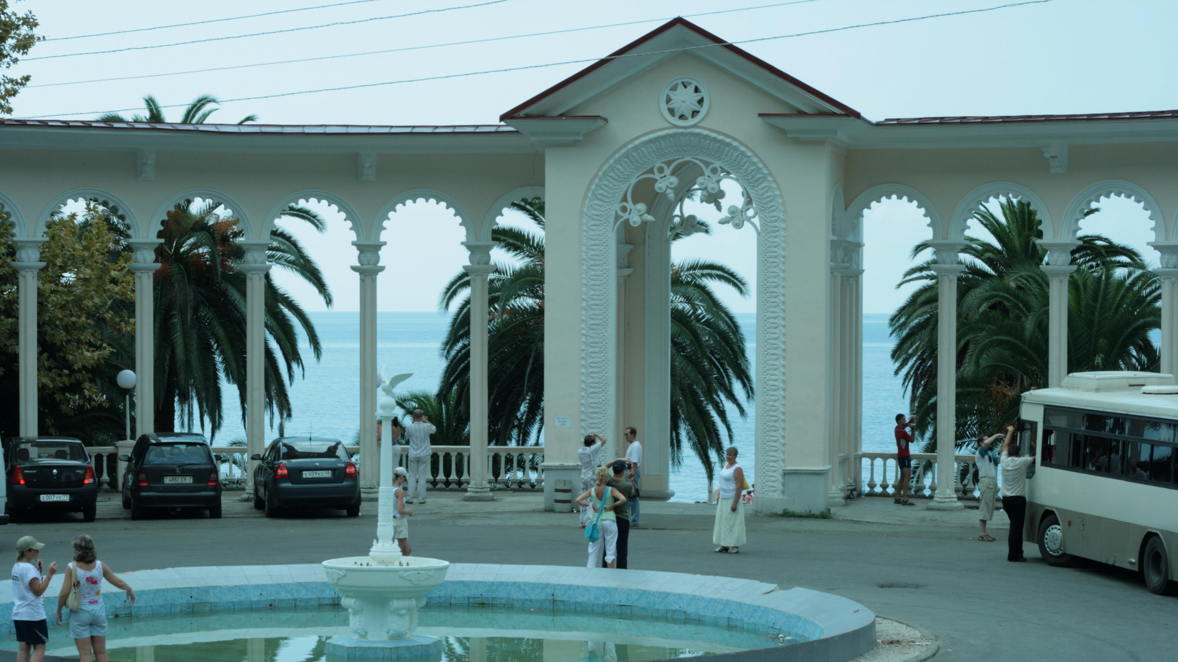 abkhazia gagra promenade arch sights 4k 1538066288 - abkhazia, gagra, promenade, arch, sights 4k - promenade, gagra, abkhazia