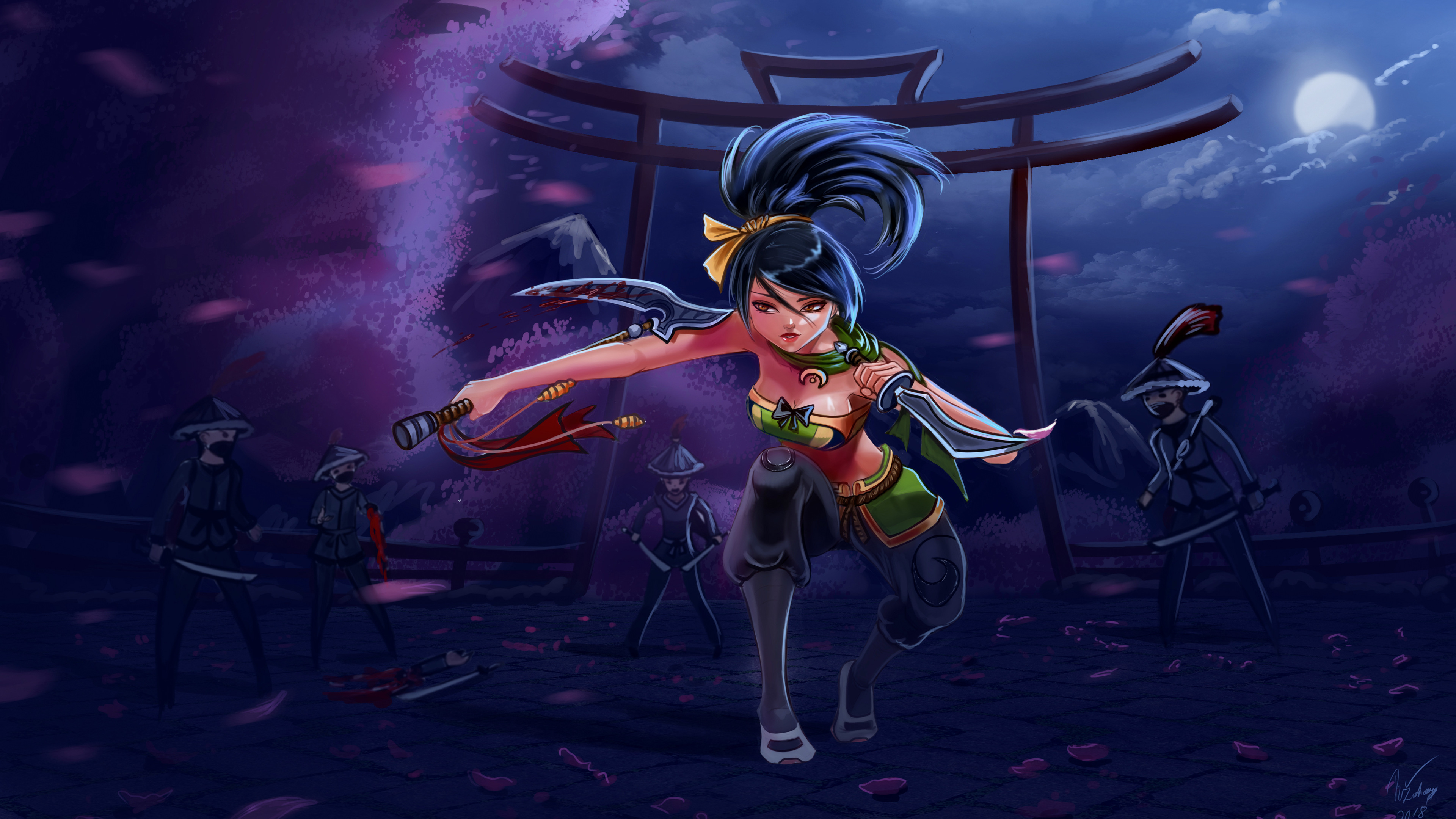 Wallpaper 4k Akali League Of Legends Game 4k Wallpapers Akali