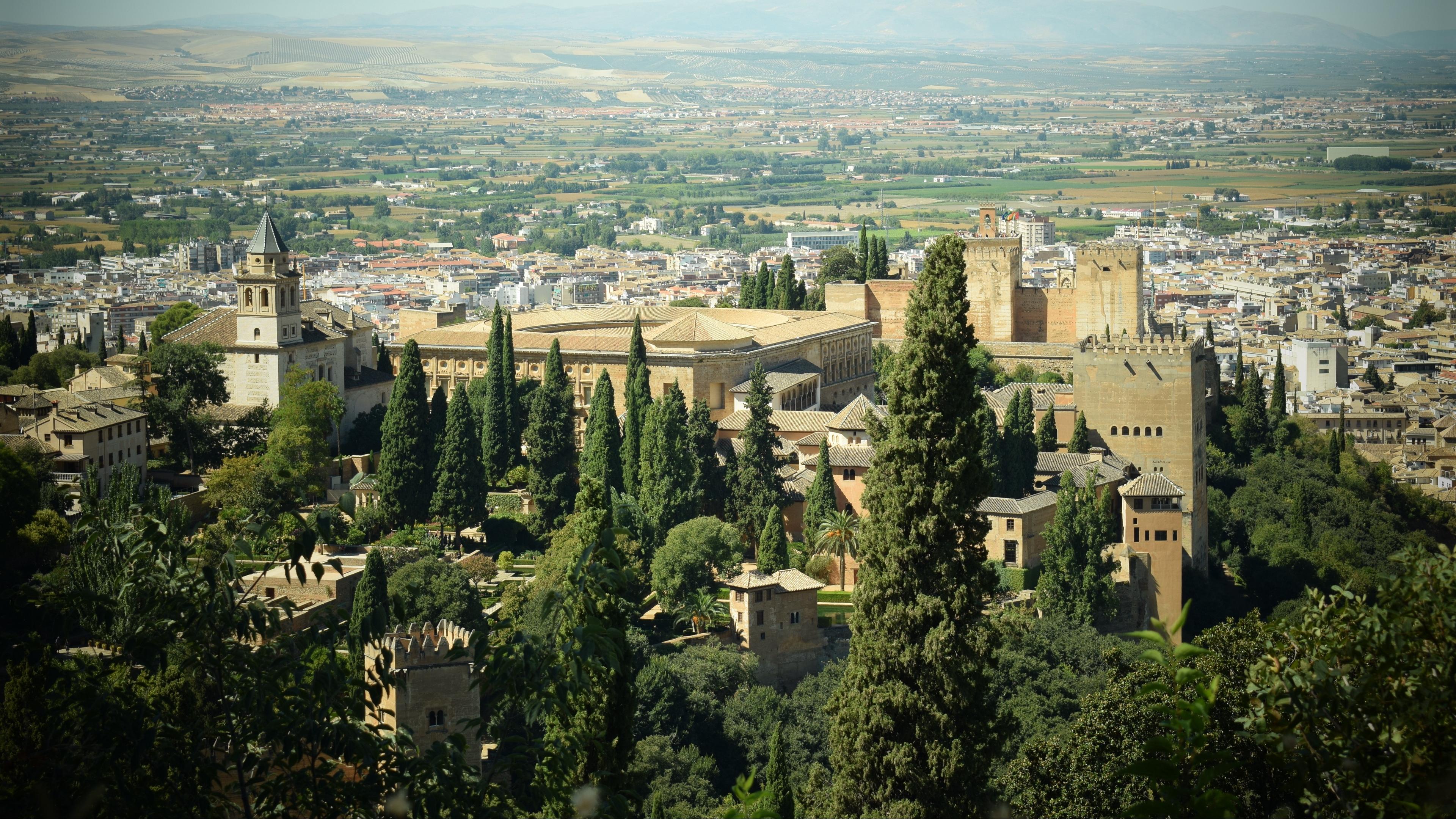 alhambra granada spain city top view 4k 1538066885 - alhambra, granada, spain, city, top view 4k - Spain, granada, alhambra